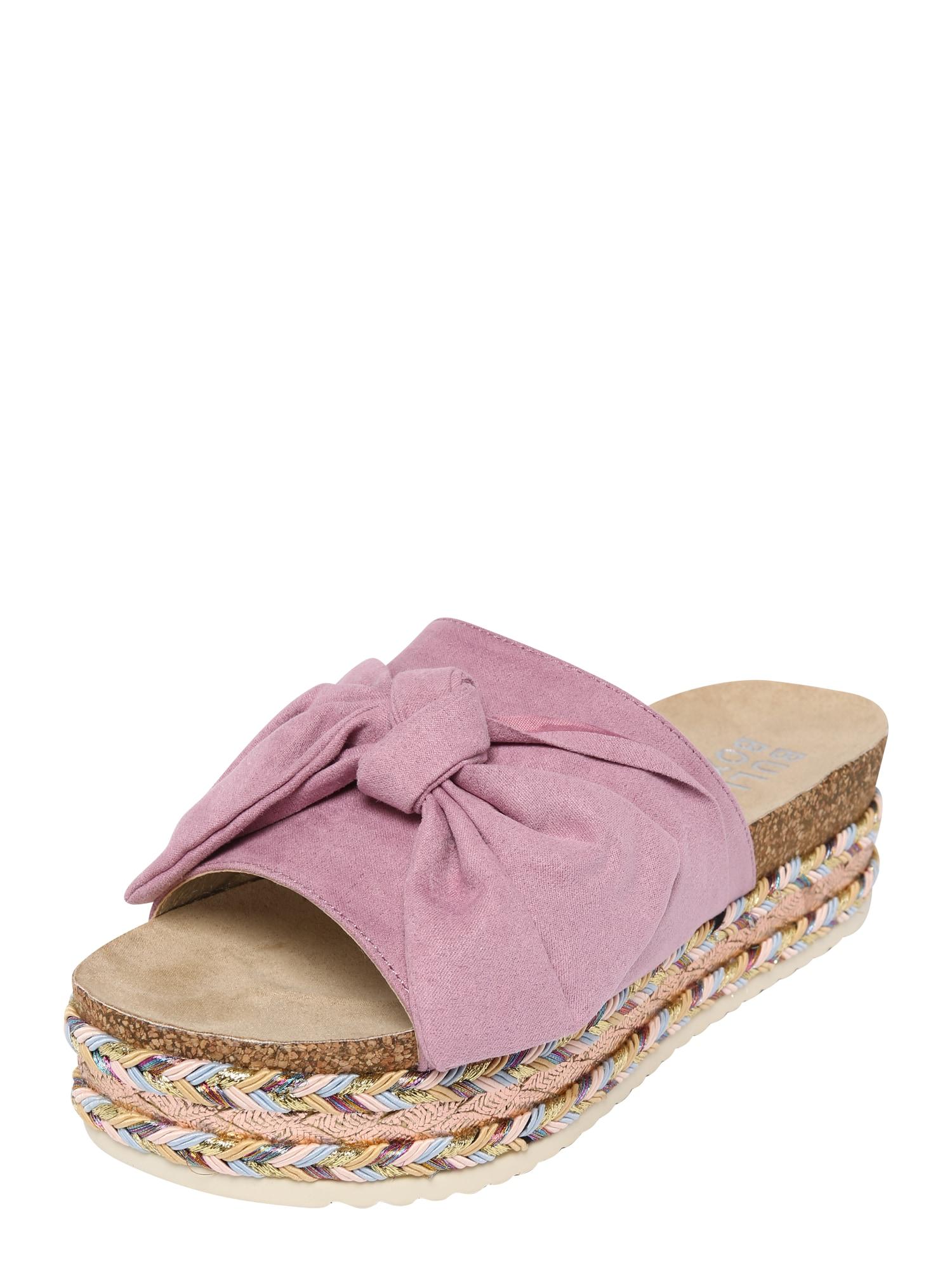 Sandály světle hnědá růžová BULLBOXER