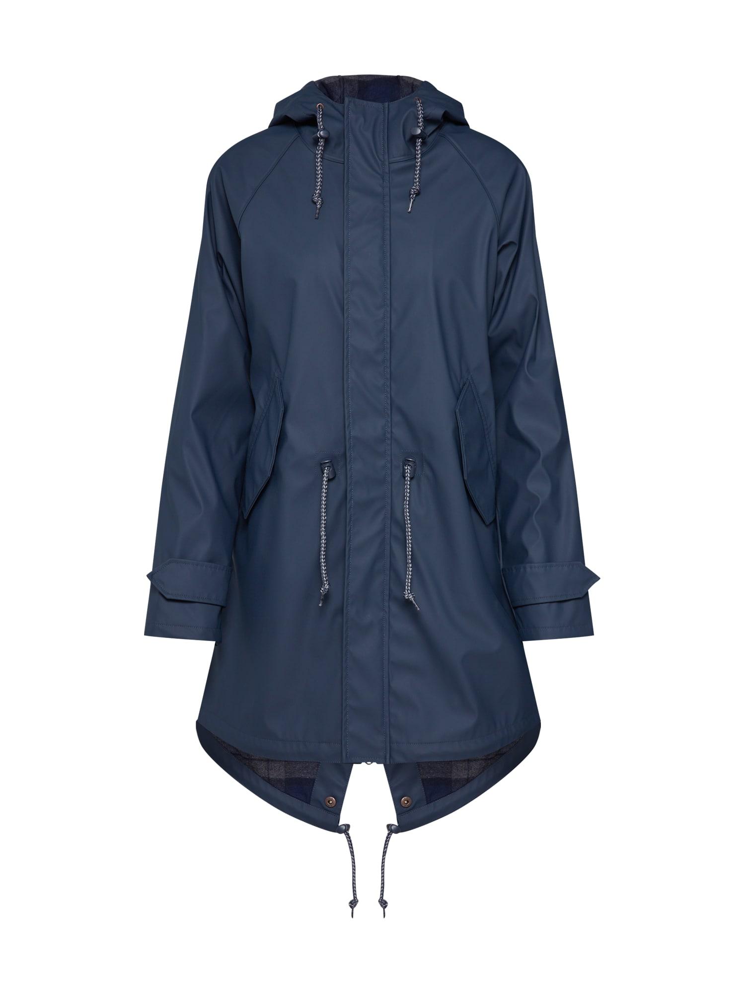 Přechodný kabát Travel Friese Check Girls námořnická modř Derbe