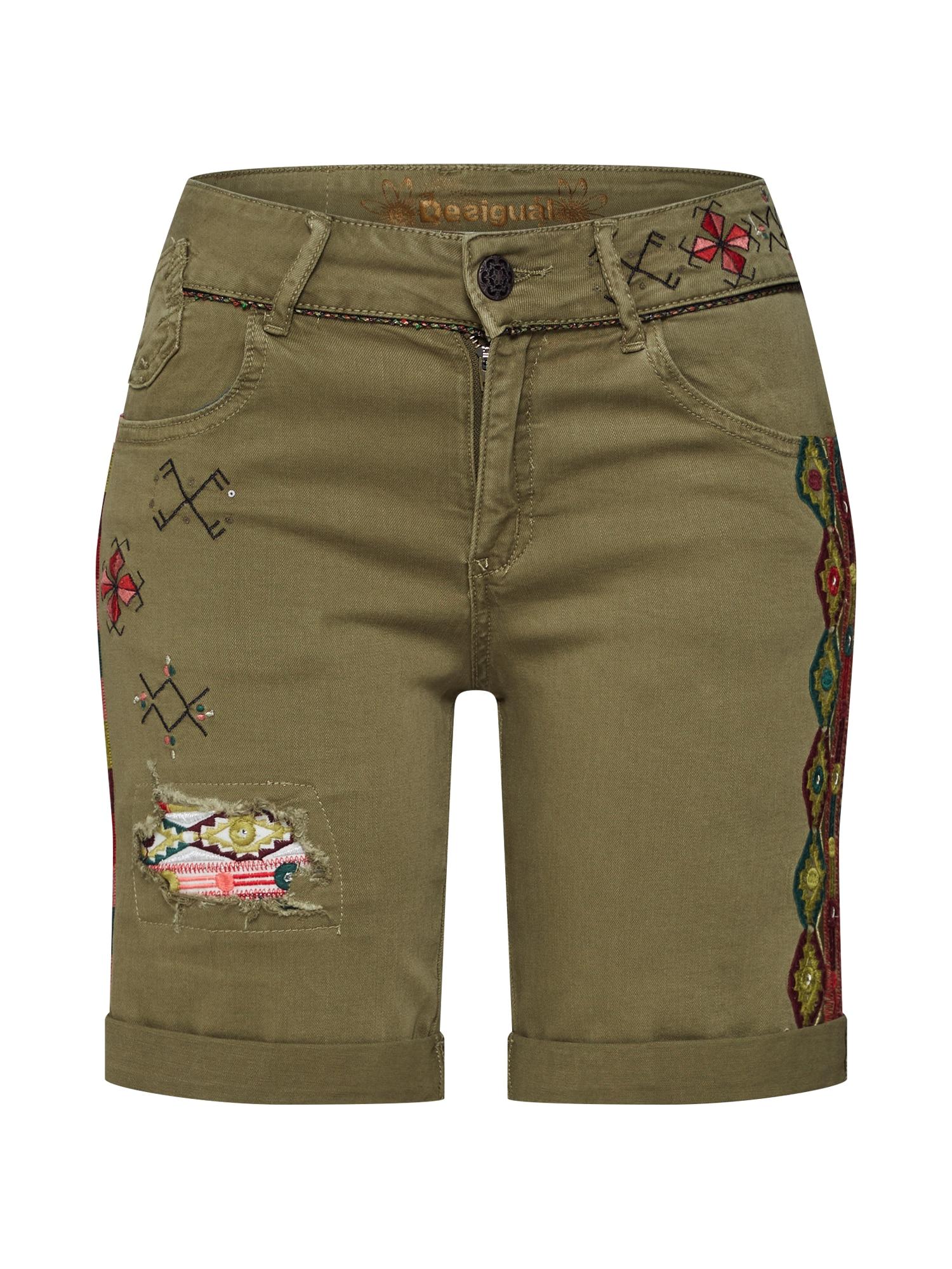 Kalhoty PANT_ESSAUIRA khaki Desigual