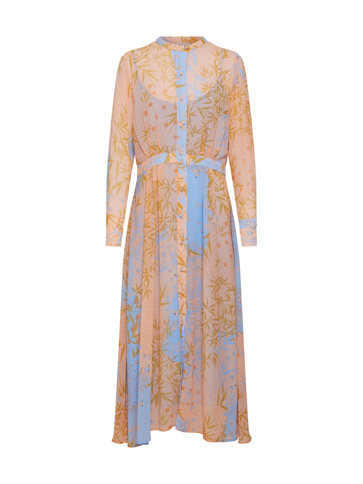 Košilové šaty Kyndall světle béžová světlemodrá NÜMPH