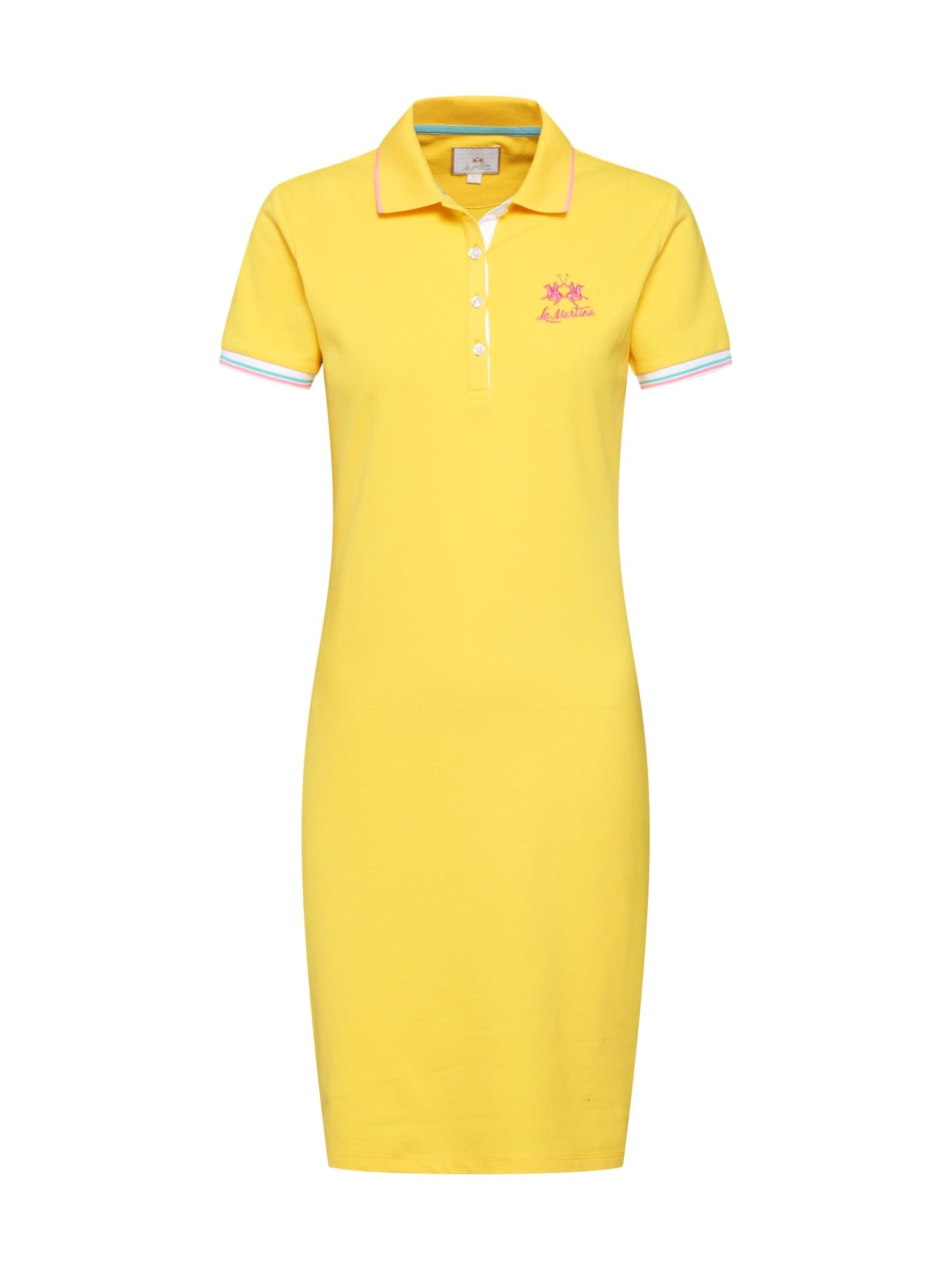 Šaty WOMAN DRESS PIQUET STRETCH žlutá La Martina
