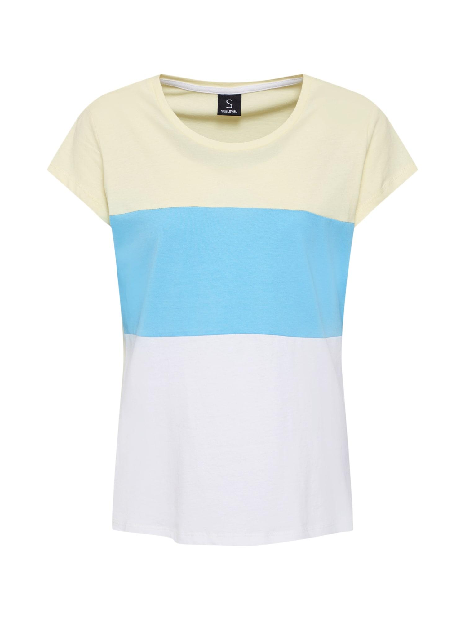 Tričko modrá žlutá bílá Sublevel