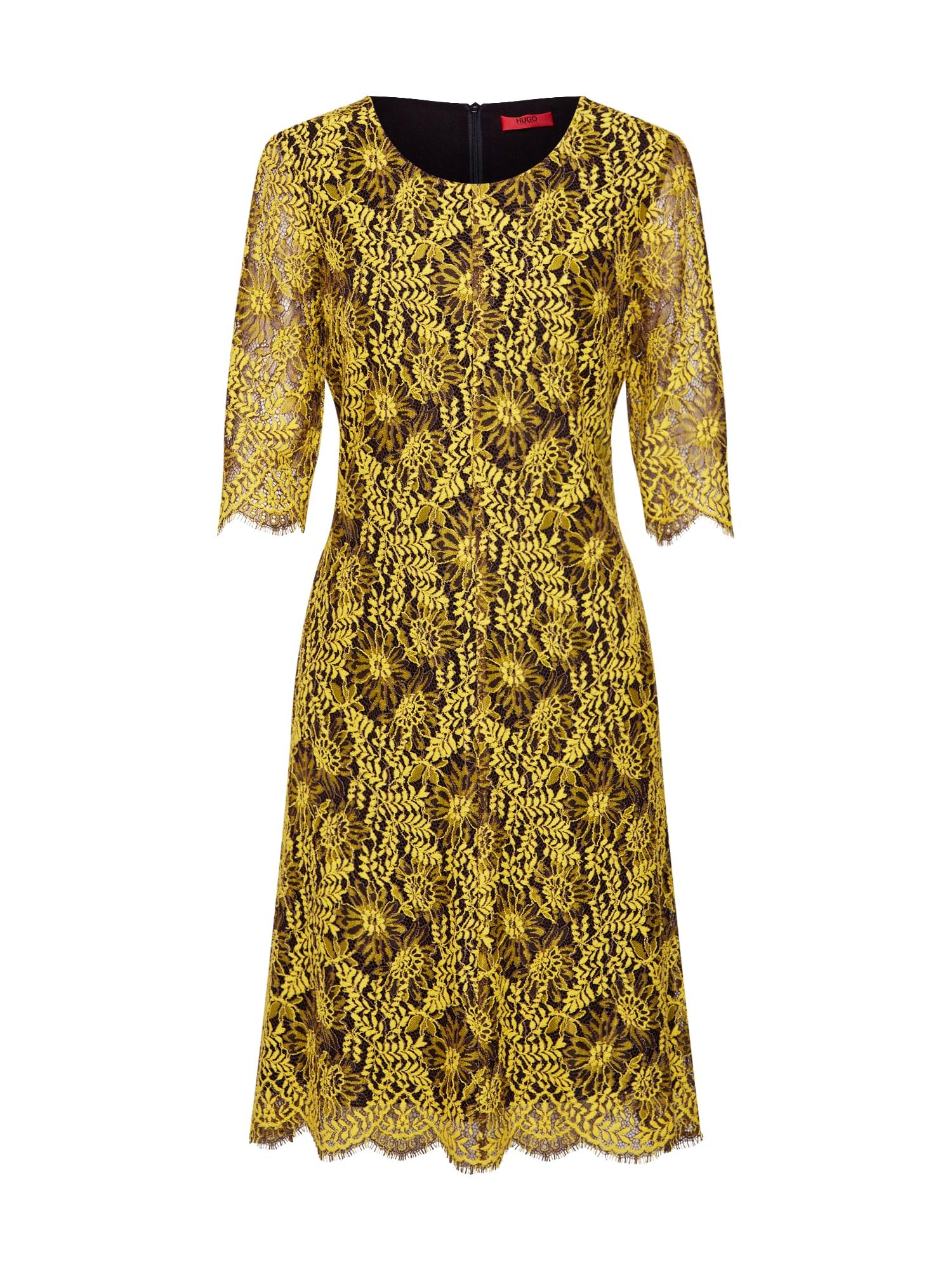 Pouzdrové šaty Kirelia-1 žlutá černá HUGO
