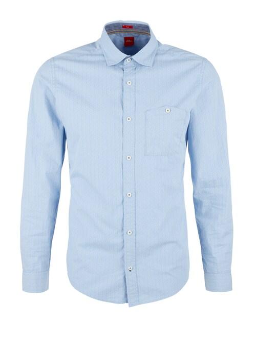 Slim: Hemd mit Denim-Details
