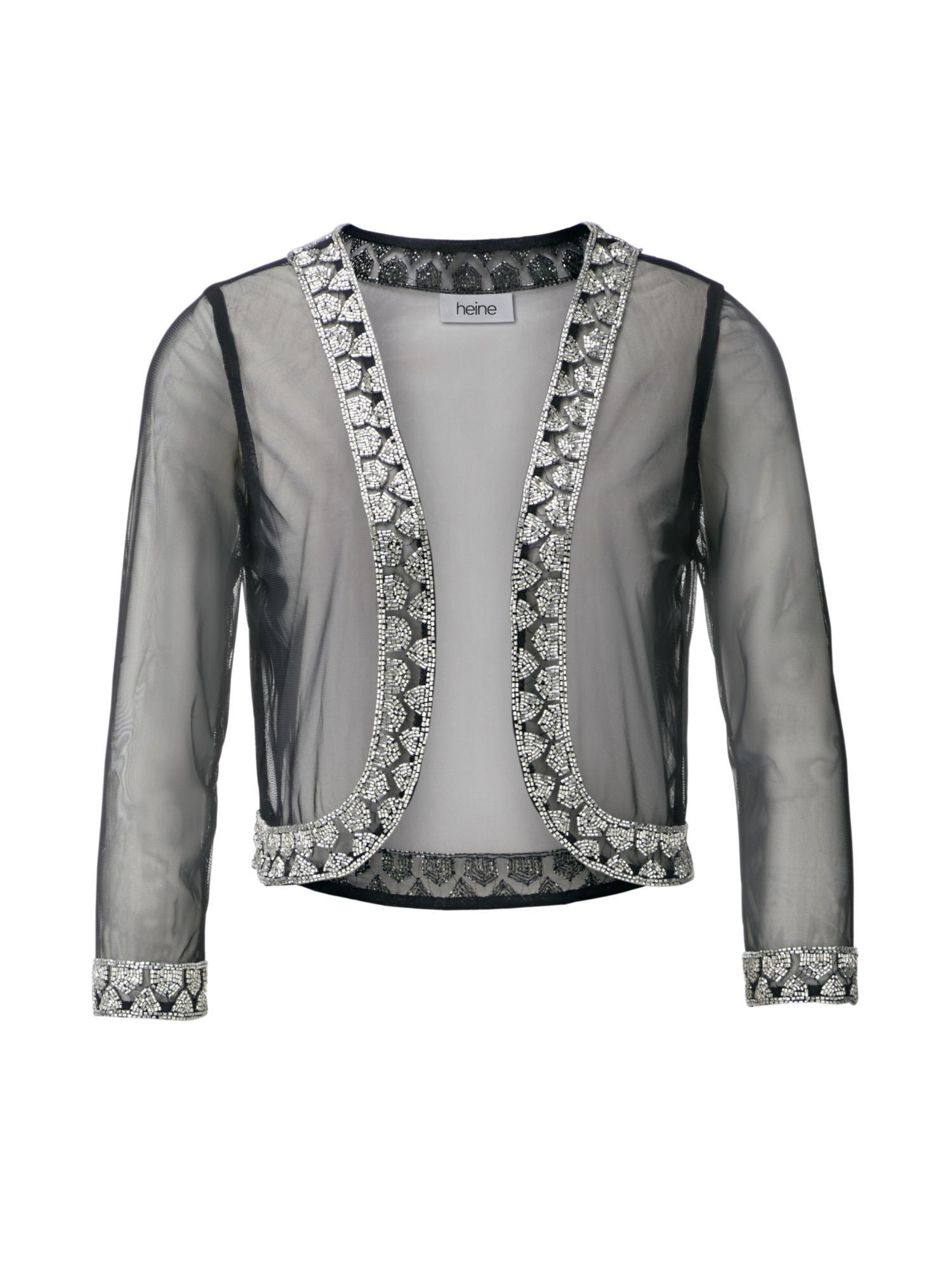 Bolero   Bekleidung > Jacken > Boleros   Schwarz - Silber   heine