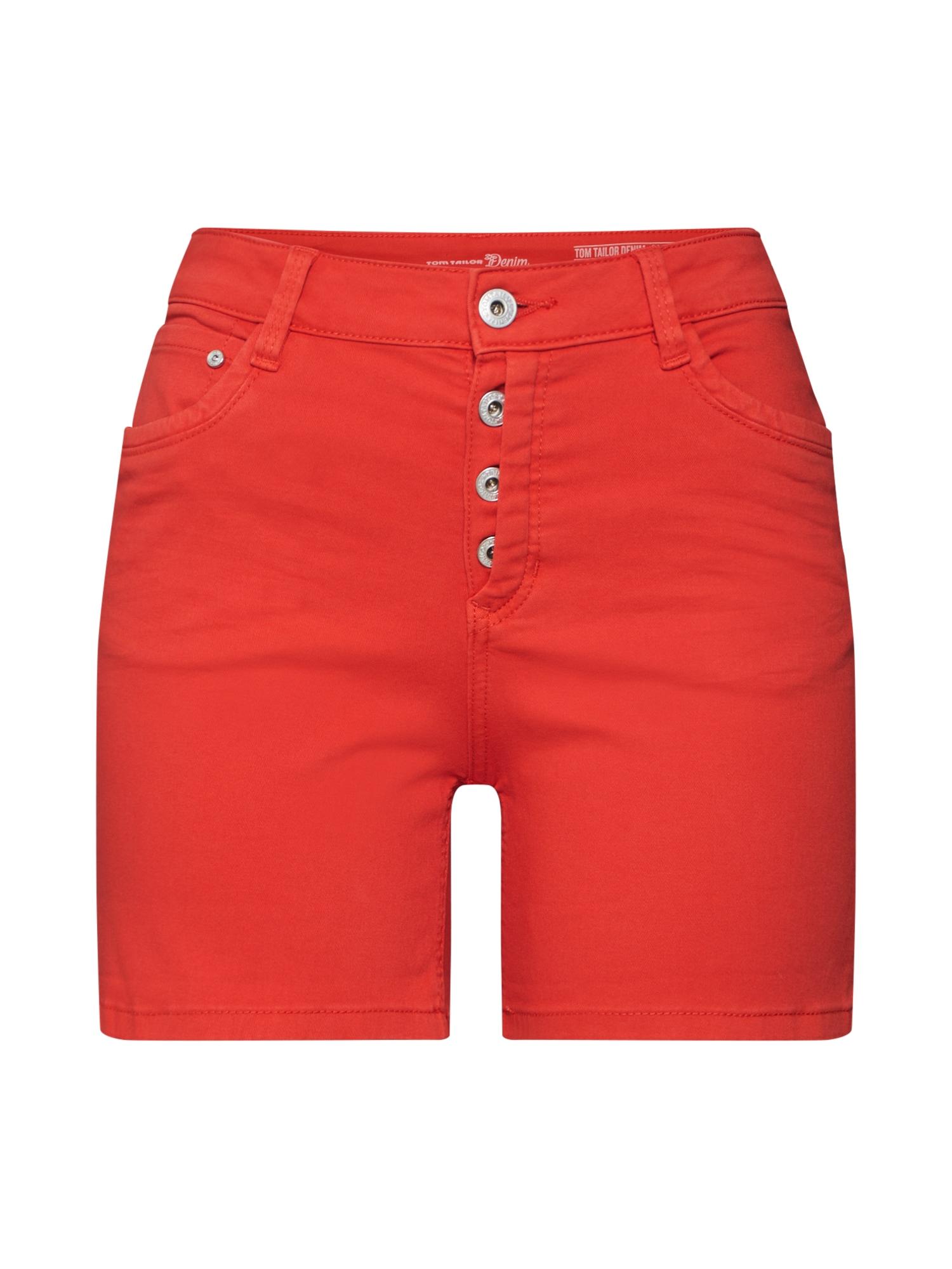 Džíny Cajsa oranžově červená TOM TAILOR DENIM