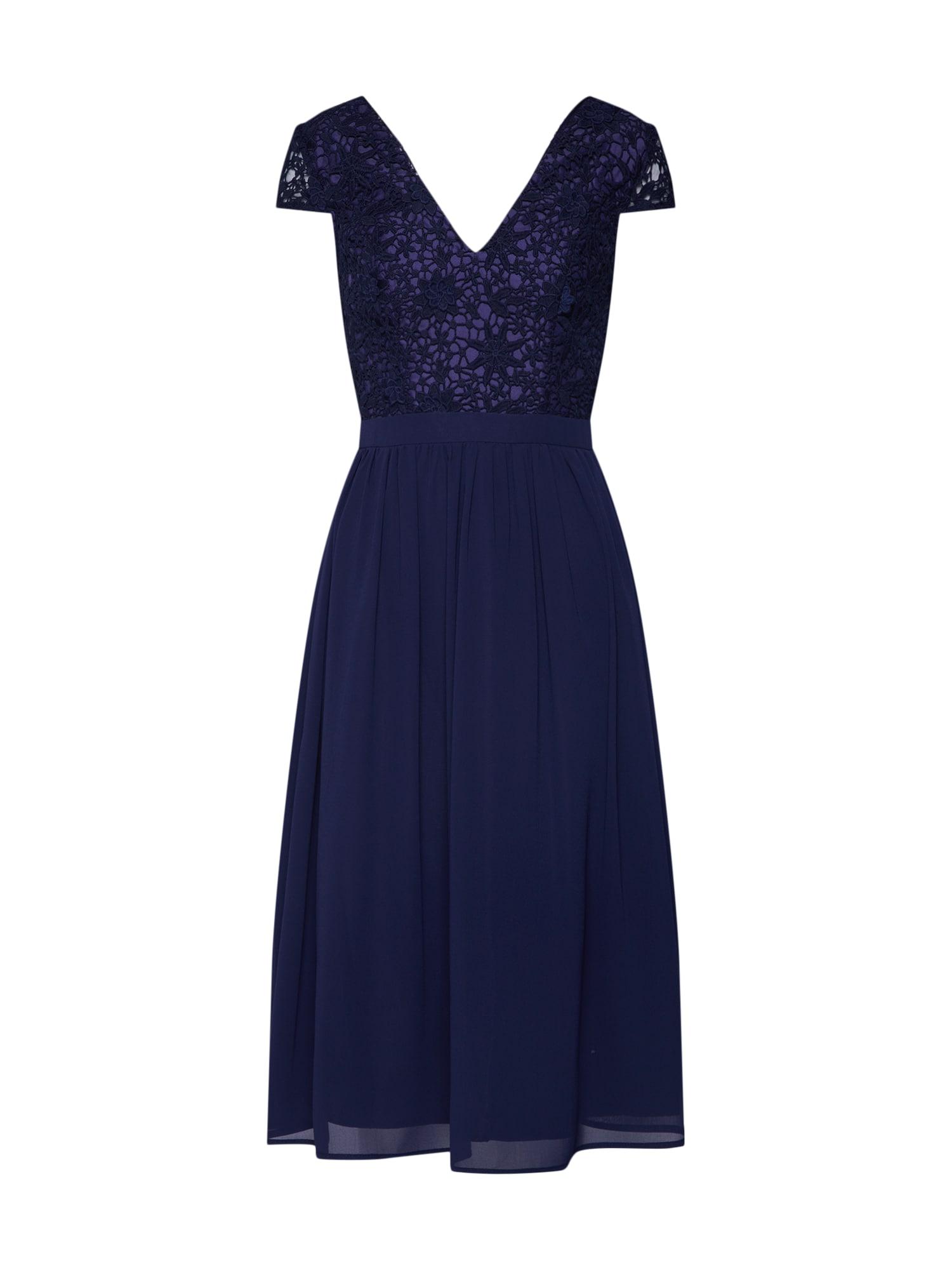 Společenské šaty Halsey námořnická modř Chi Chi London