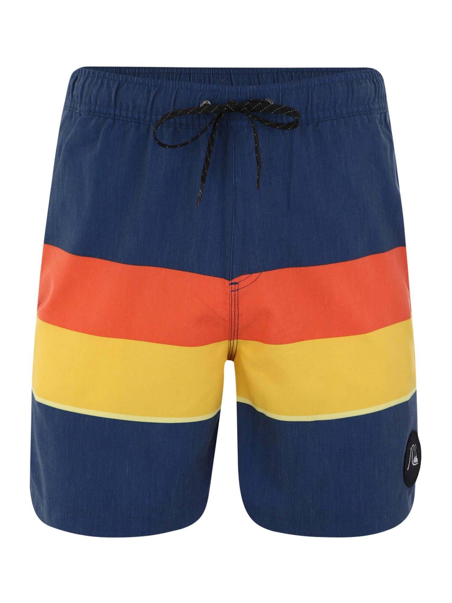 Plavecké šortky SEASONSVOL17 M JAMV tmavě modrá žlutá oranžová QUIKSILVER