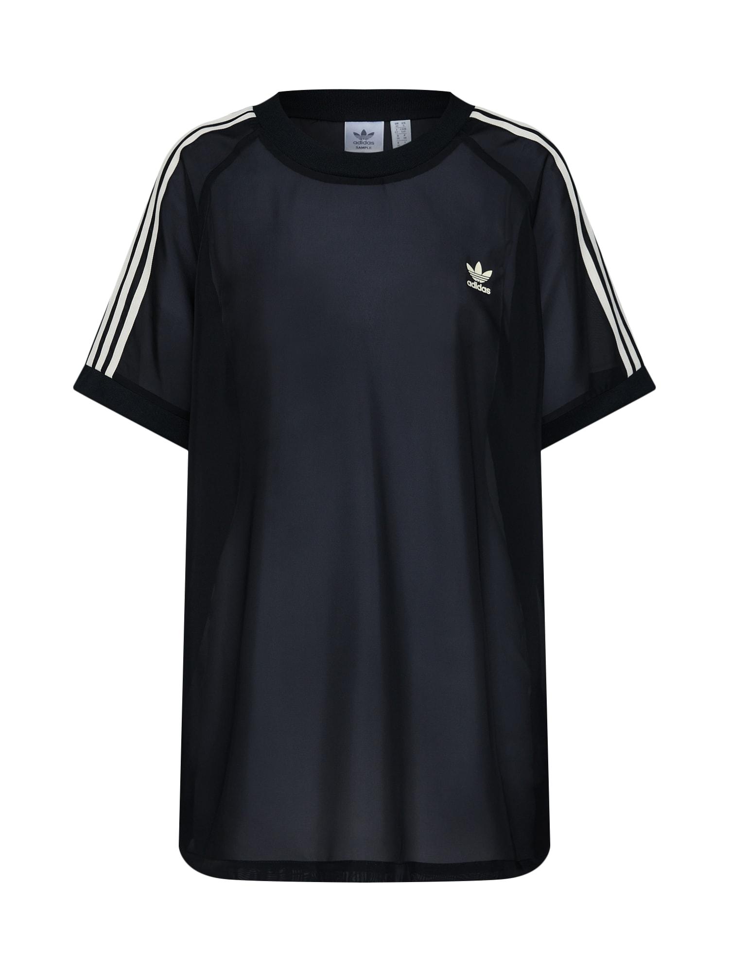 Oversized tričko STRIPES TEE černá ADIDAS ORIGINALS