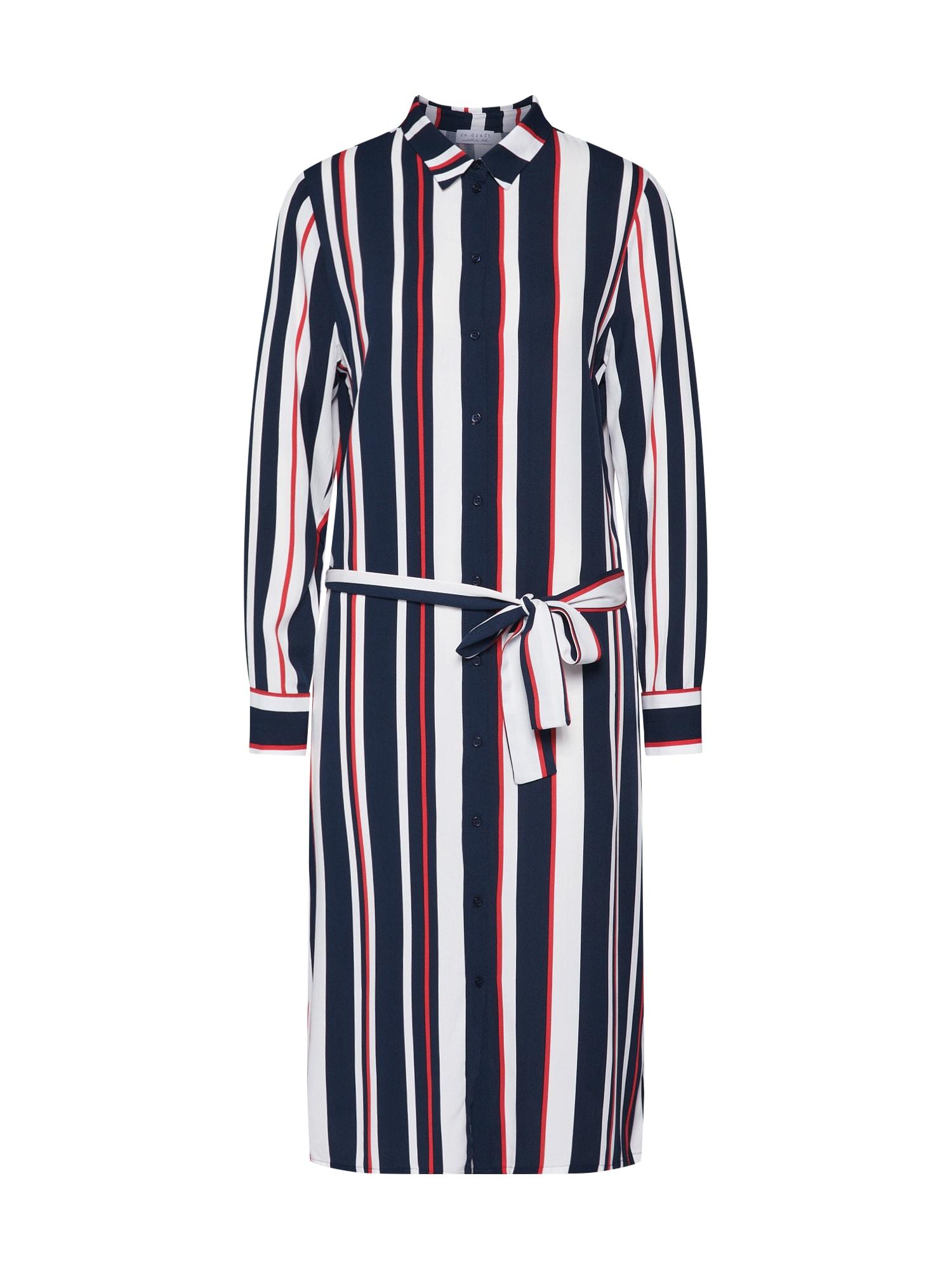 Košilové šaty námořnická modř červená bílá Re.draft