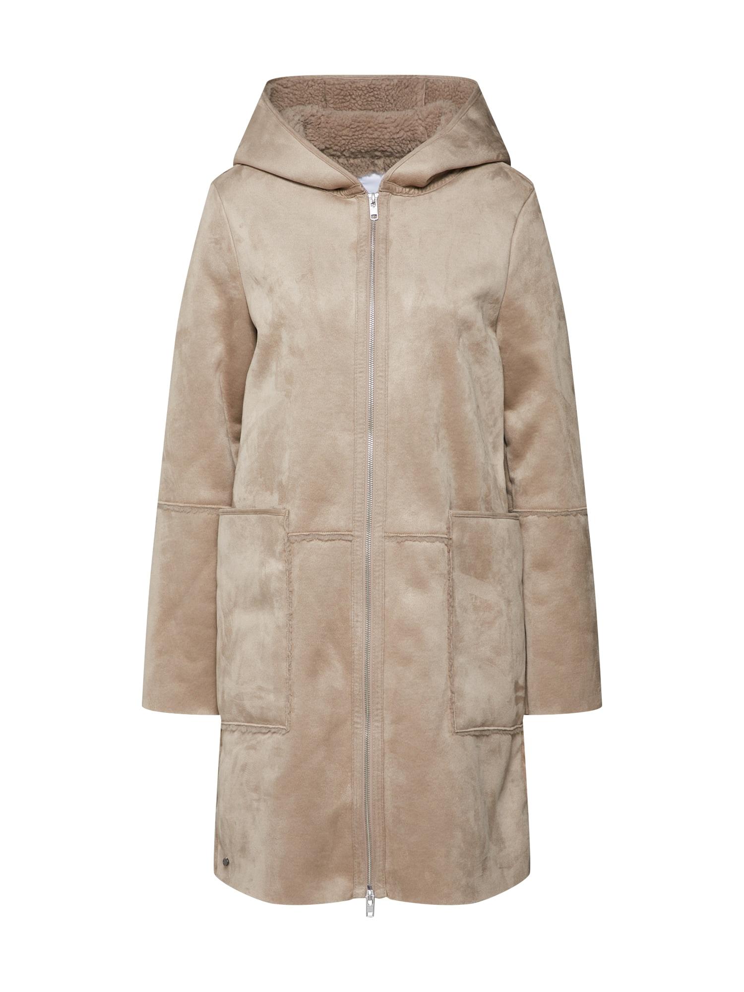 Zimní kabát šedobéžová GREYSTONE