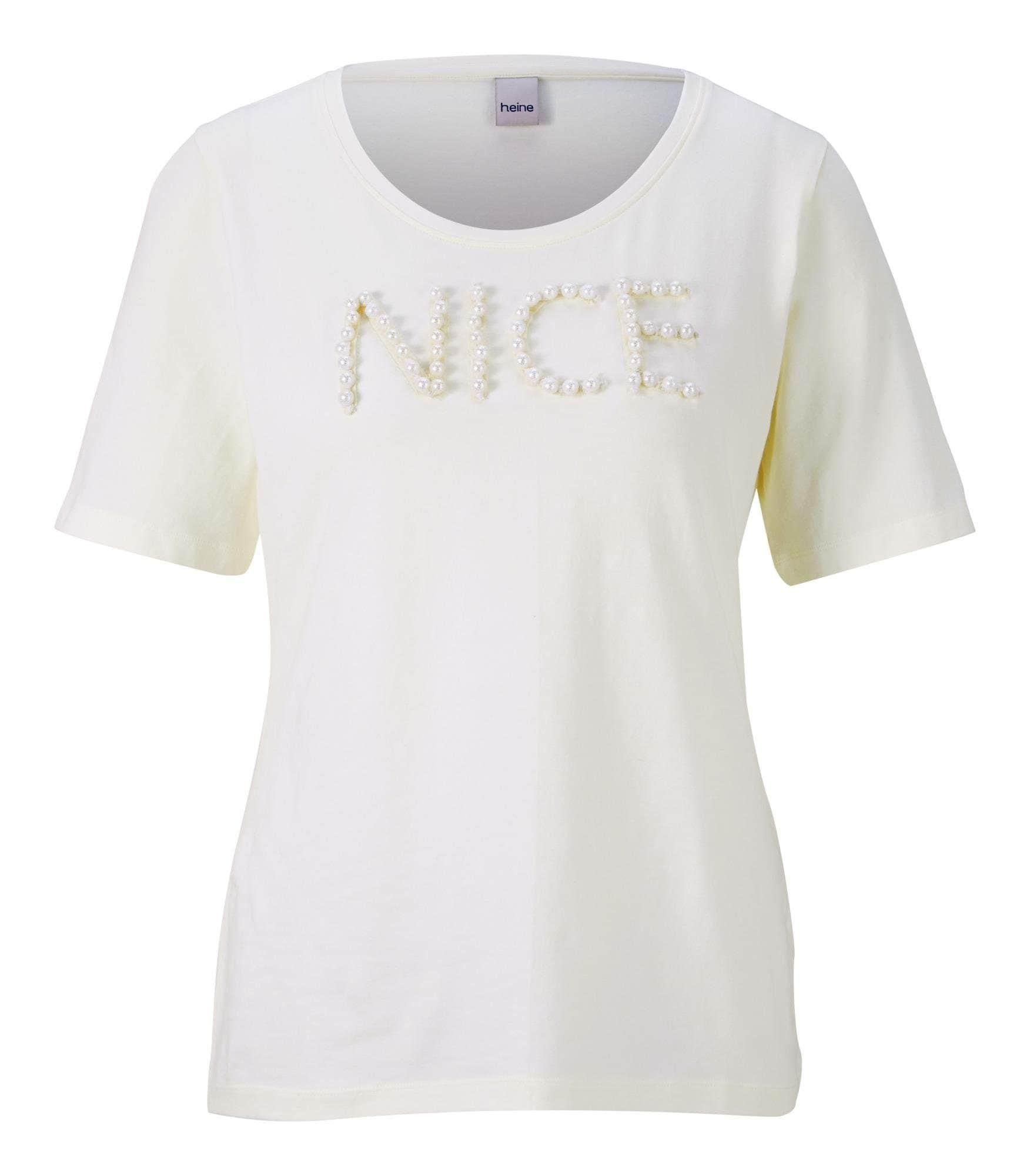 Rundhalsshirt | Bekleidung > Shirts > Rundhalsshirts | Weiß | heine