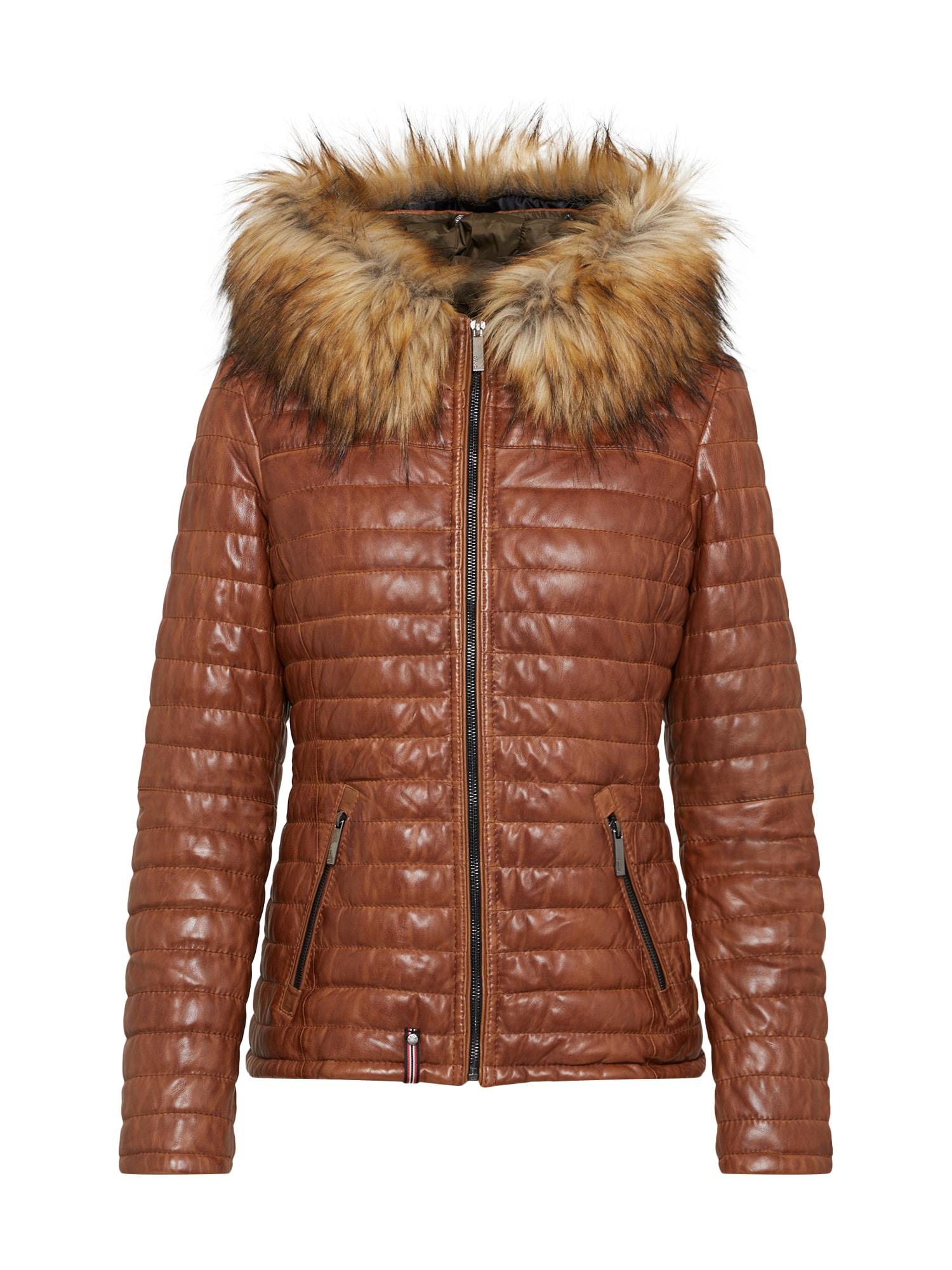 Zimní bunda Fury koňaková OAKWOOD