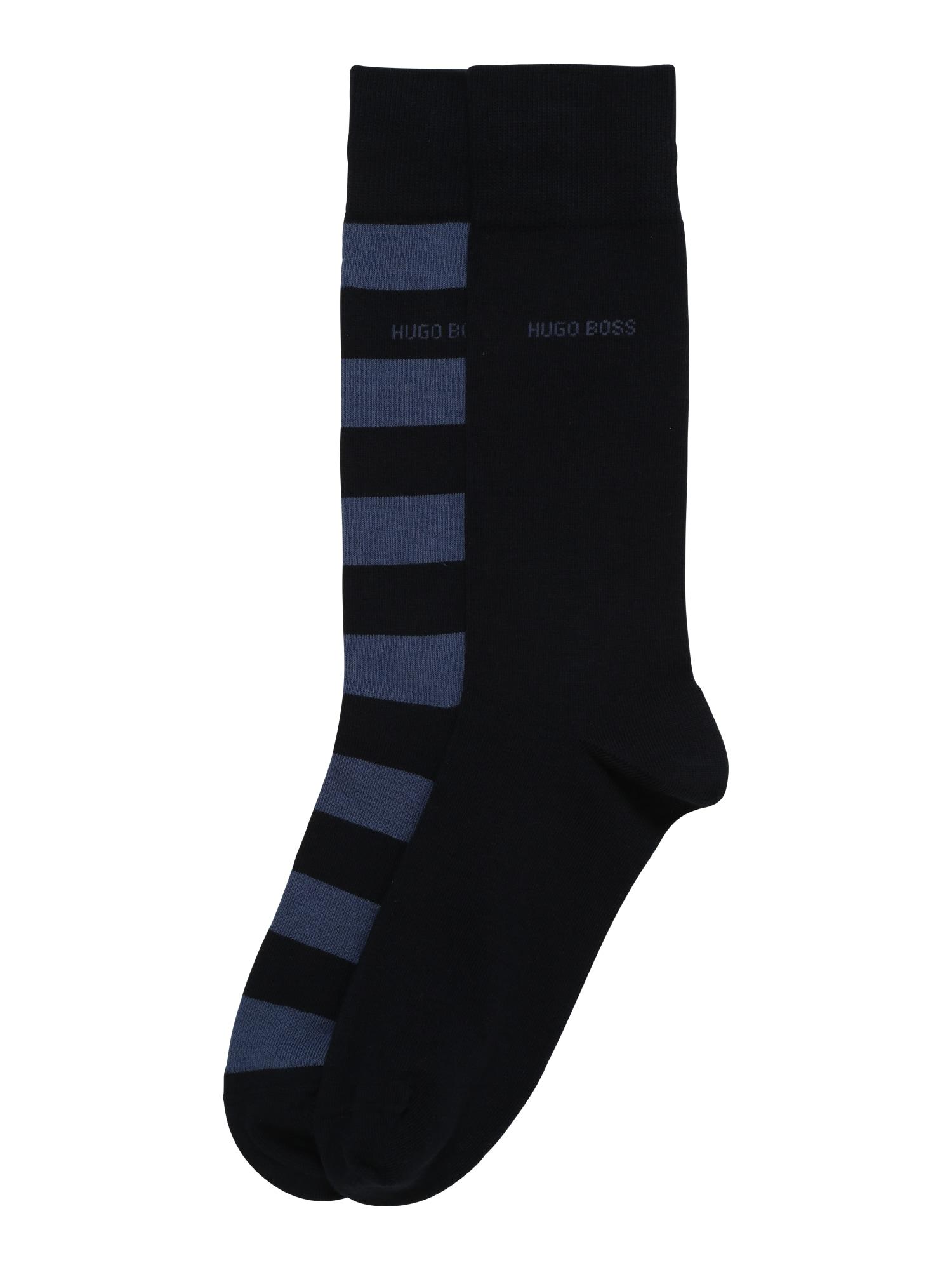 Ponožky 2P BlockStripe tmavě modrá černá BOSS