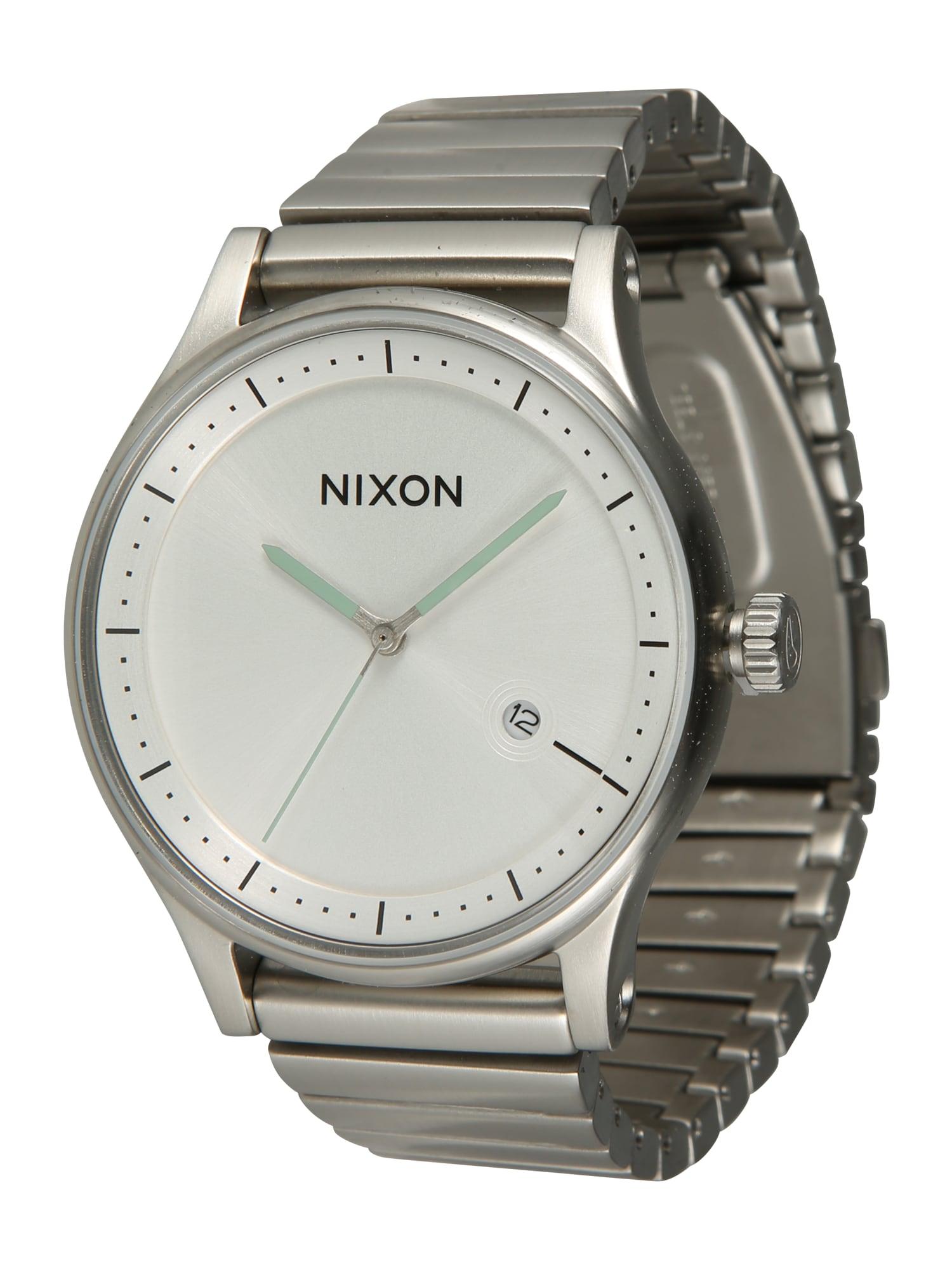 Analogové hodinky Station A1160 502-00 stříbrně šedá bílá Nixon