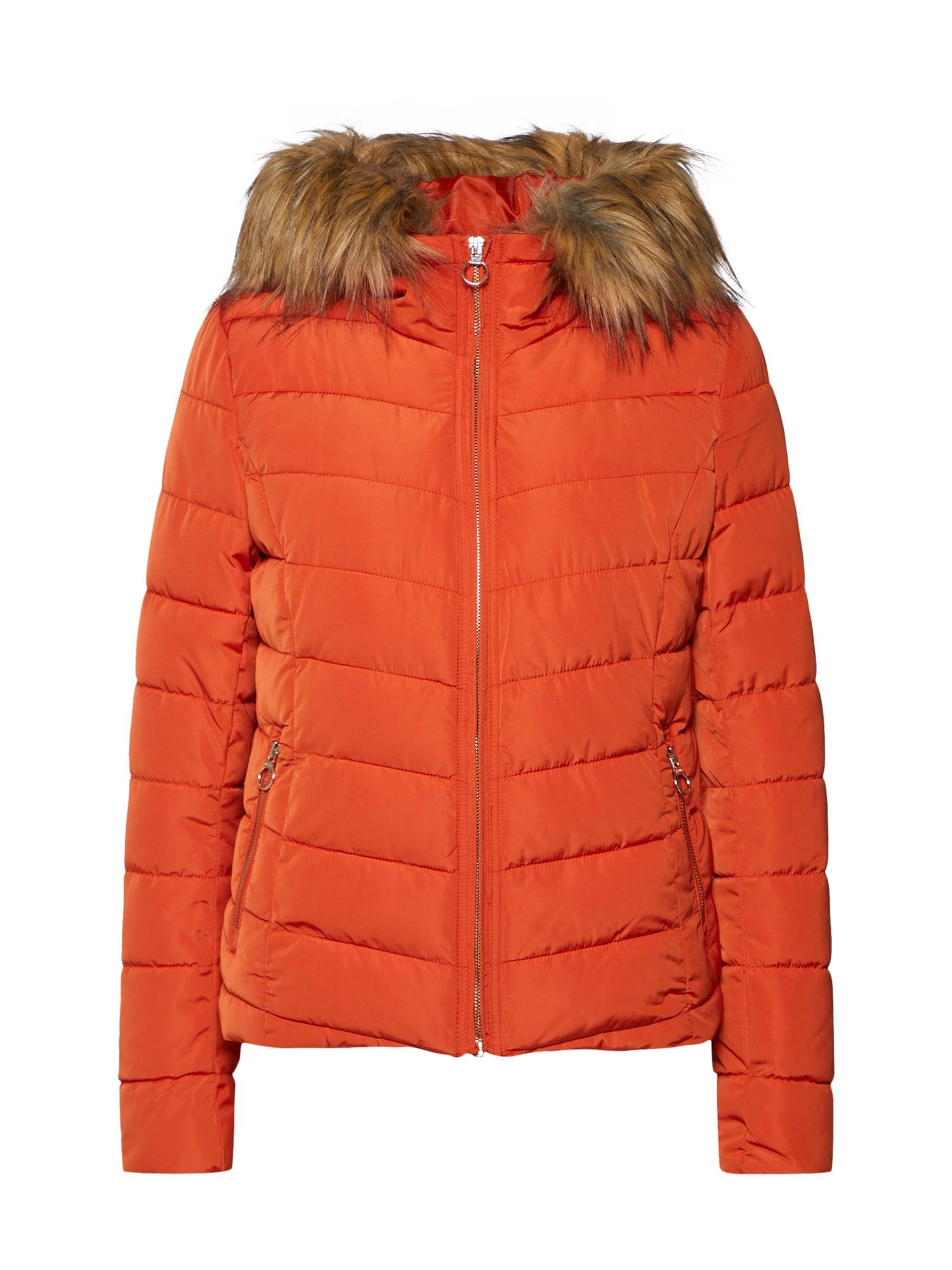 Zimní bunda tmavě oranžová ONLY