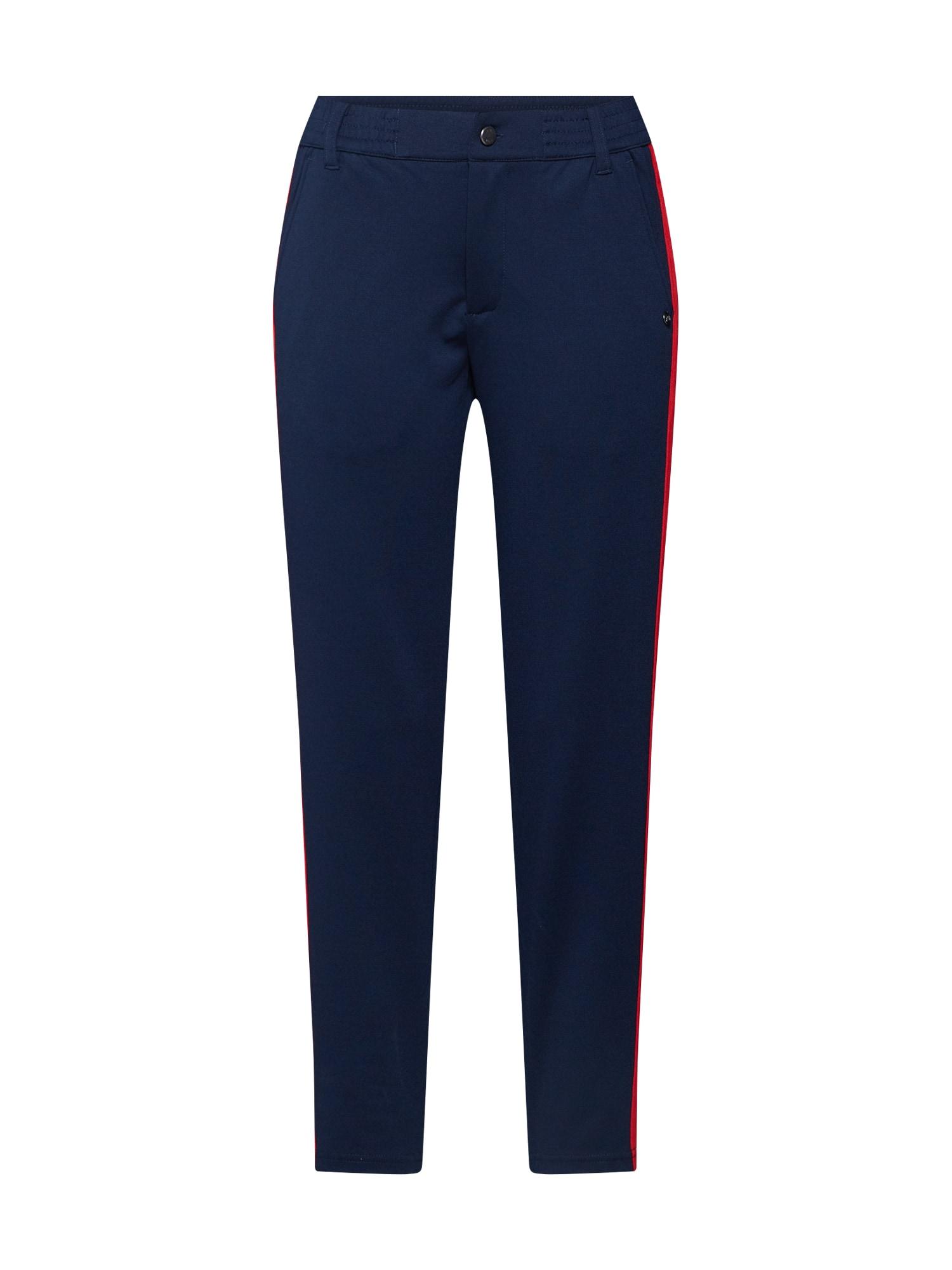 TOM TAILOR DENIM Kalhoty 'Athletic knitted track pants'  námořnická modř