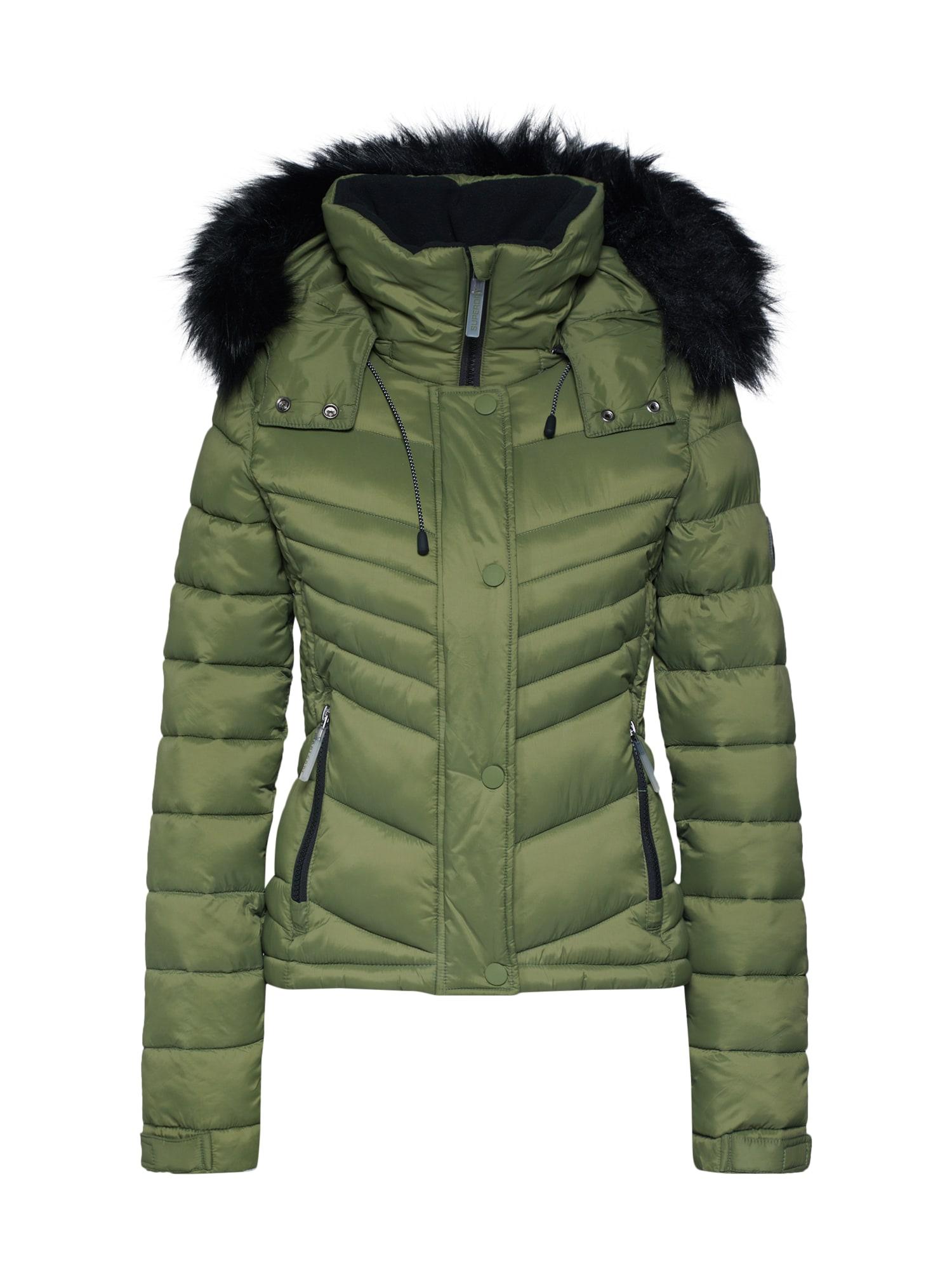 Zimní bunda FUJI olivová Superdry