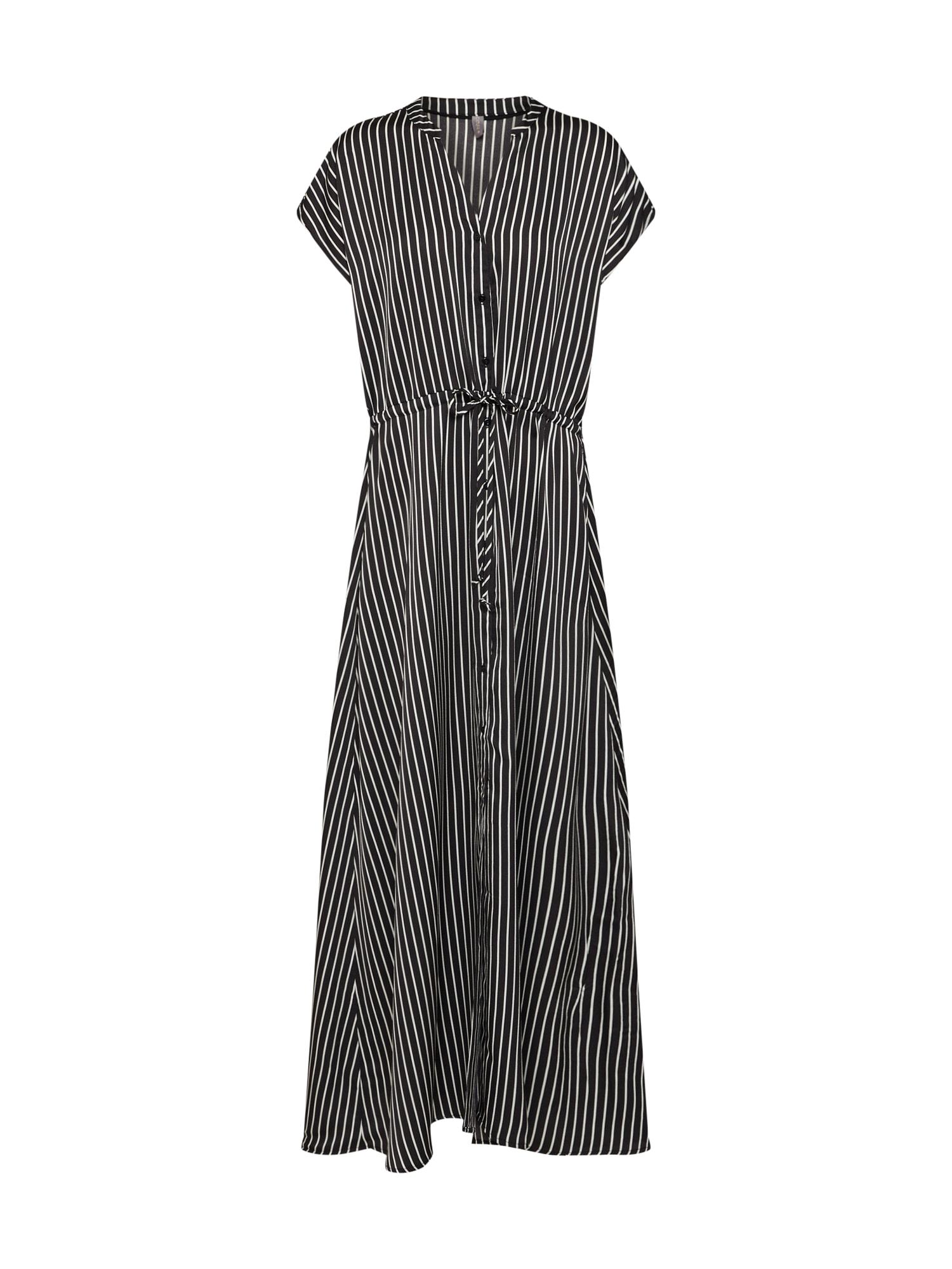 Košilové šaty Annsofie černá bílá CULTURE