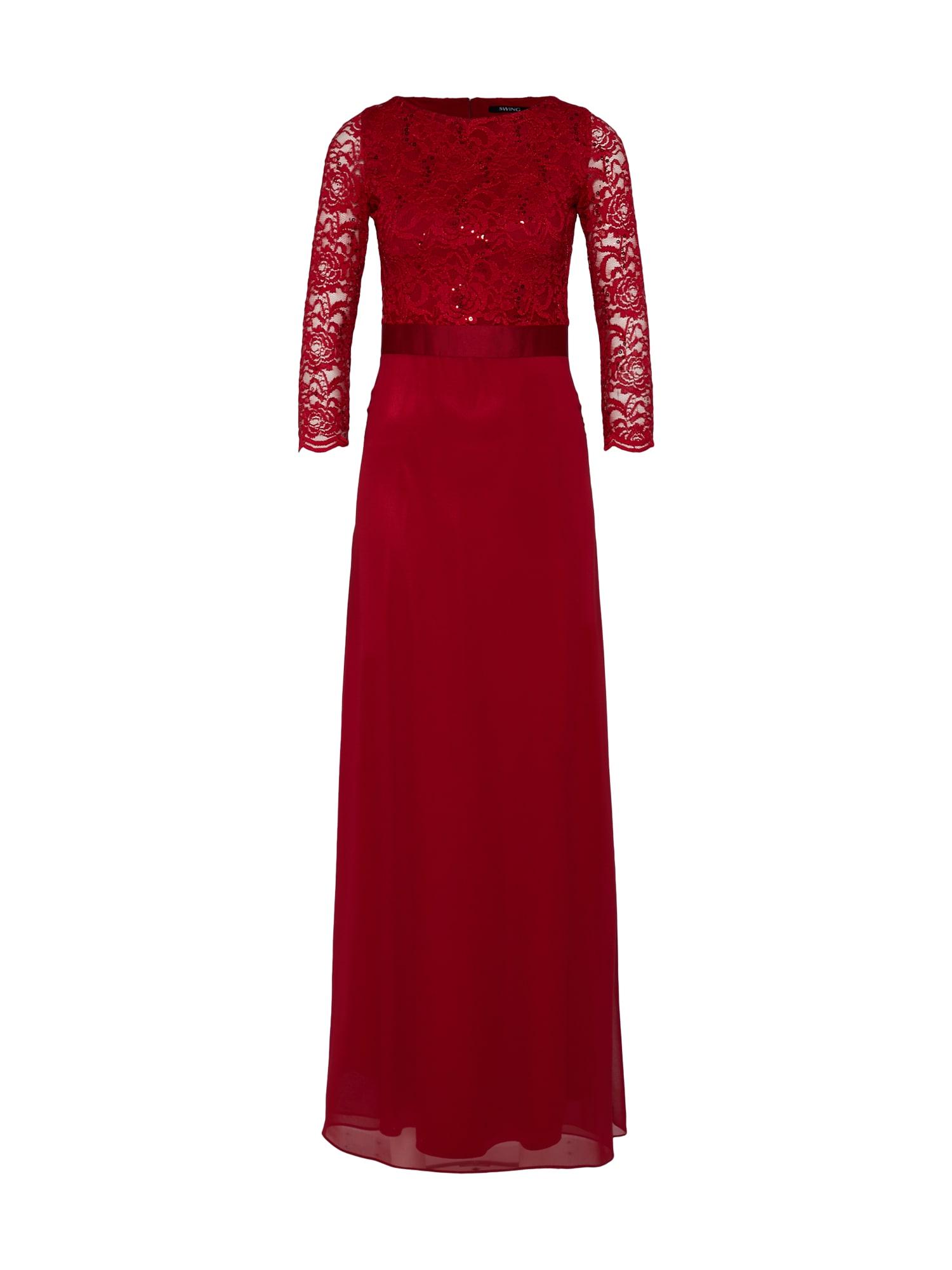 Společenské šaty vínově červená SWING