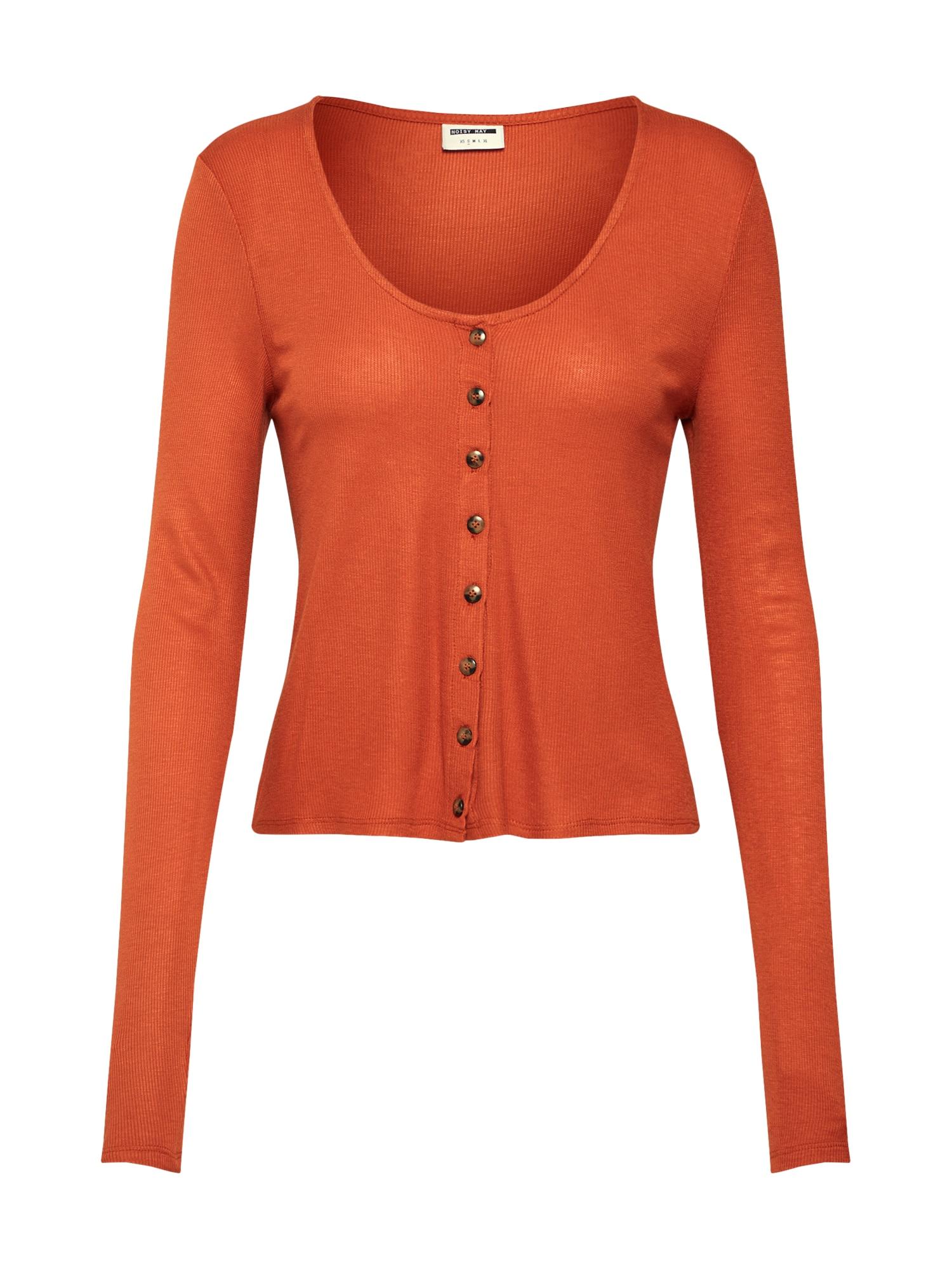 Tričko NMHENLEY LS oranžová Noisy May