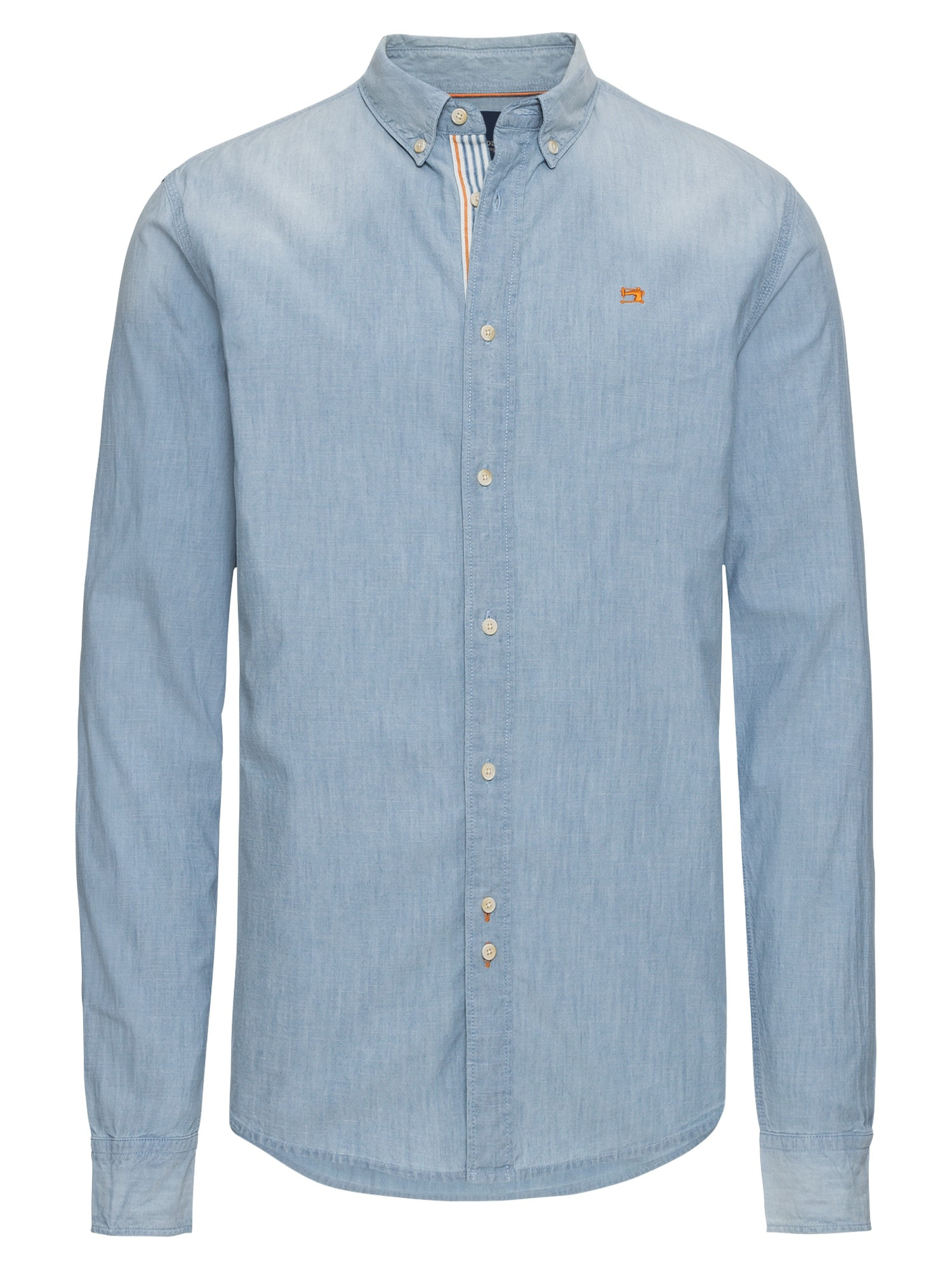 SCOTCH  and  SODA Heren Overhemd REGULAR FIT Chambray shirt lichtblauw