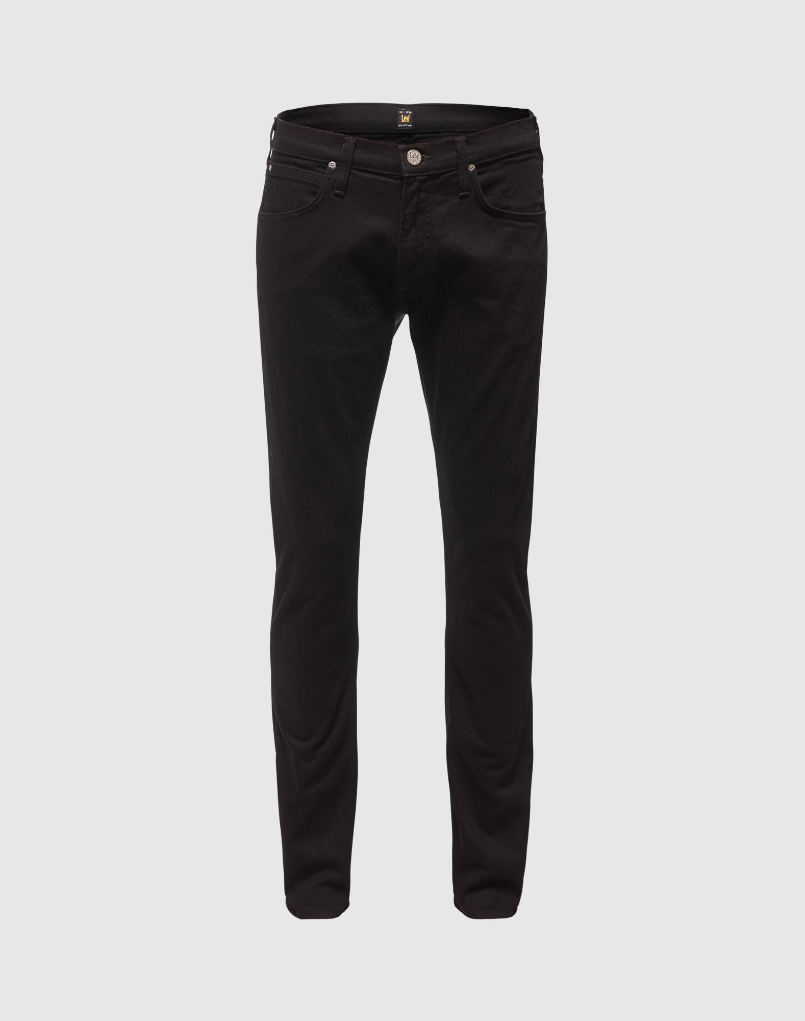 Lee, Heren Jeans 'Luke', zwart