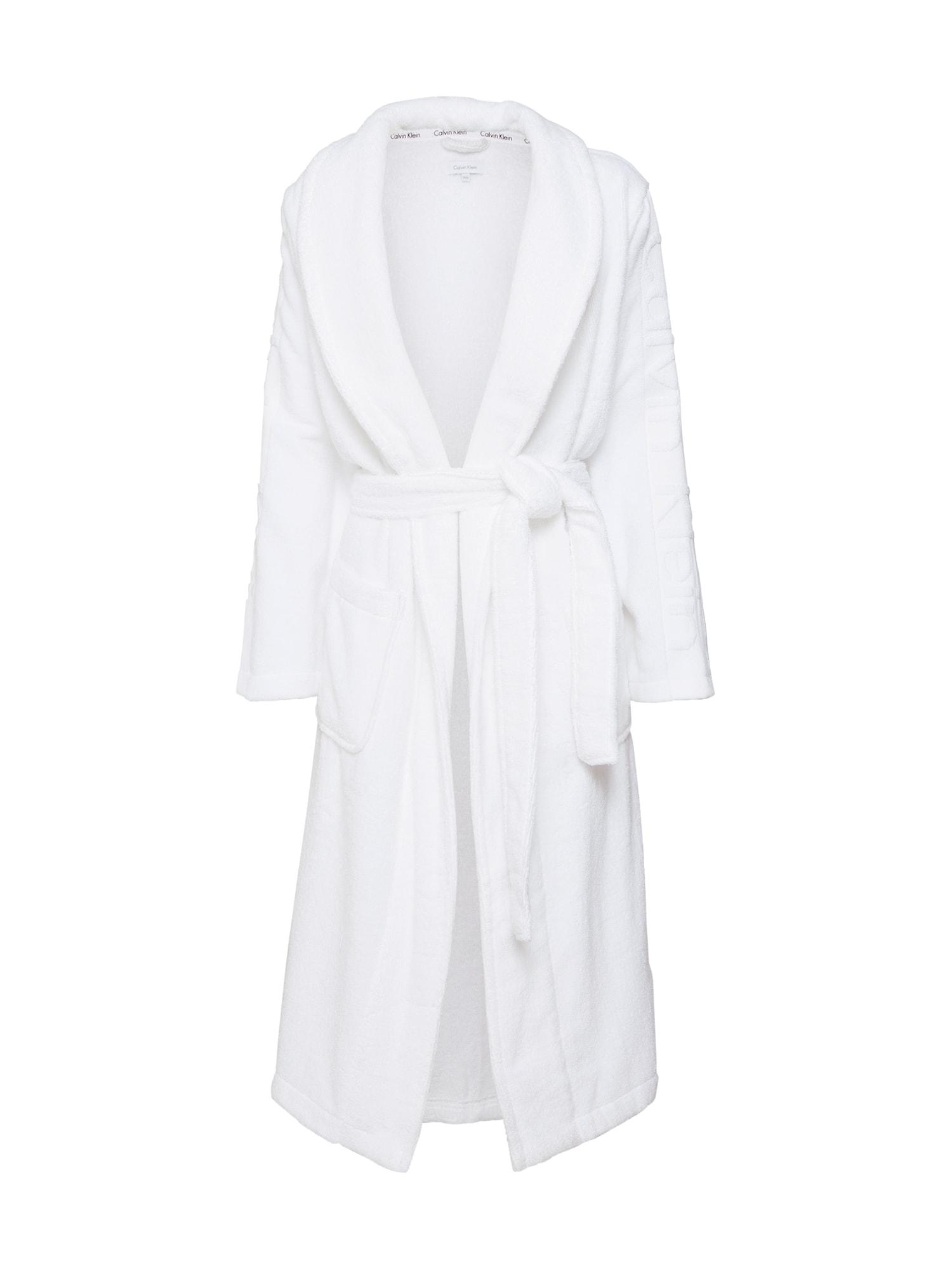 Dlouhý župan ROBE bílá Calvin Klein Underwear