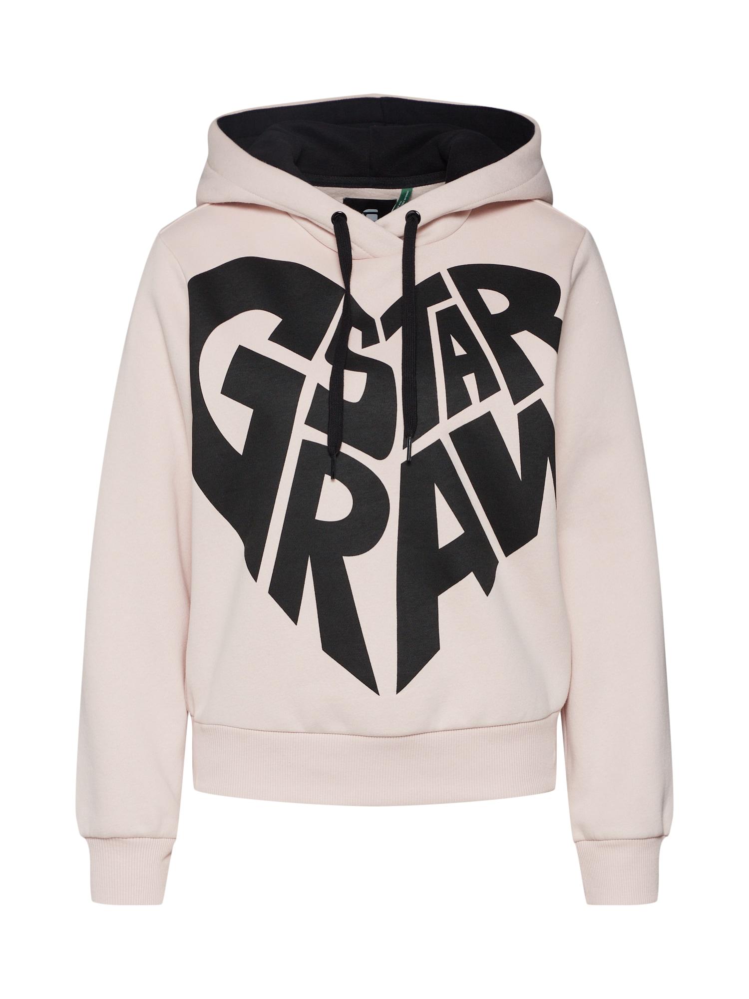 G-STAR RAW, Dames Sweatshirt 'Graphic 50 xzula hdd sw wmn ls', rosa