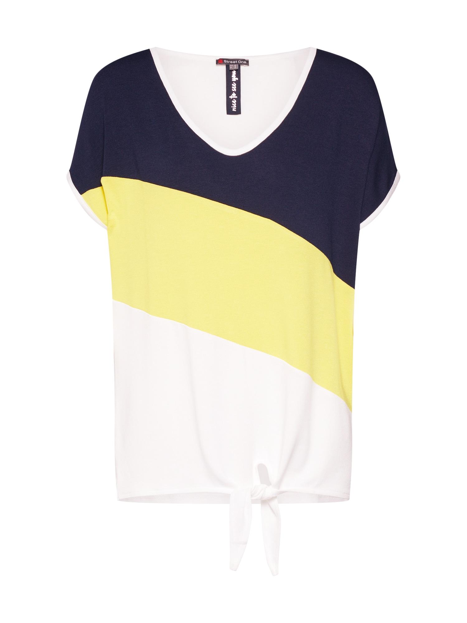 Tričko Ramona žlutá černá offwhite STREET ONE