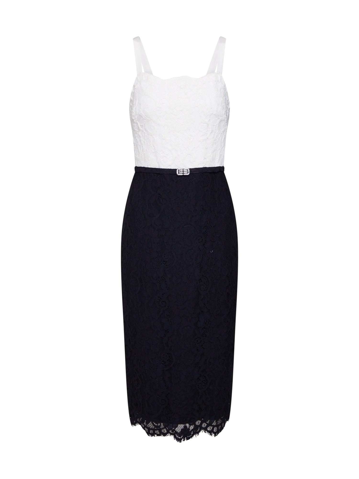 Pouzdrové šaty MAI černá bílá Lauren Ralph Lauren