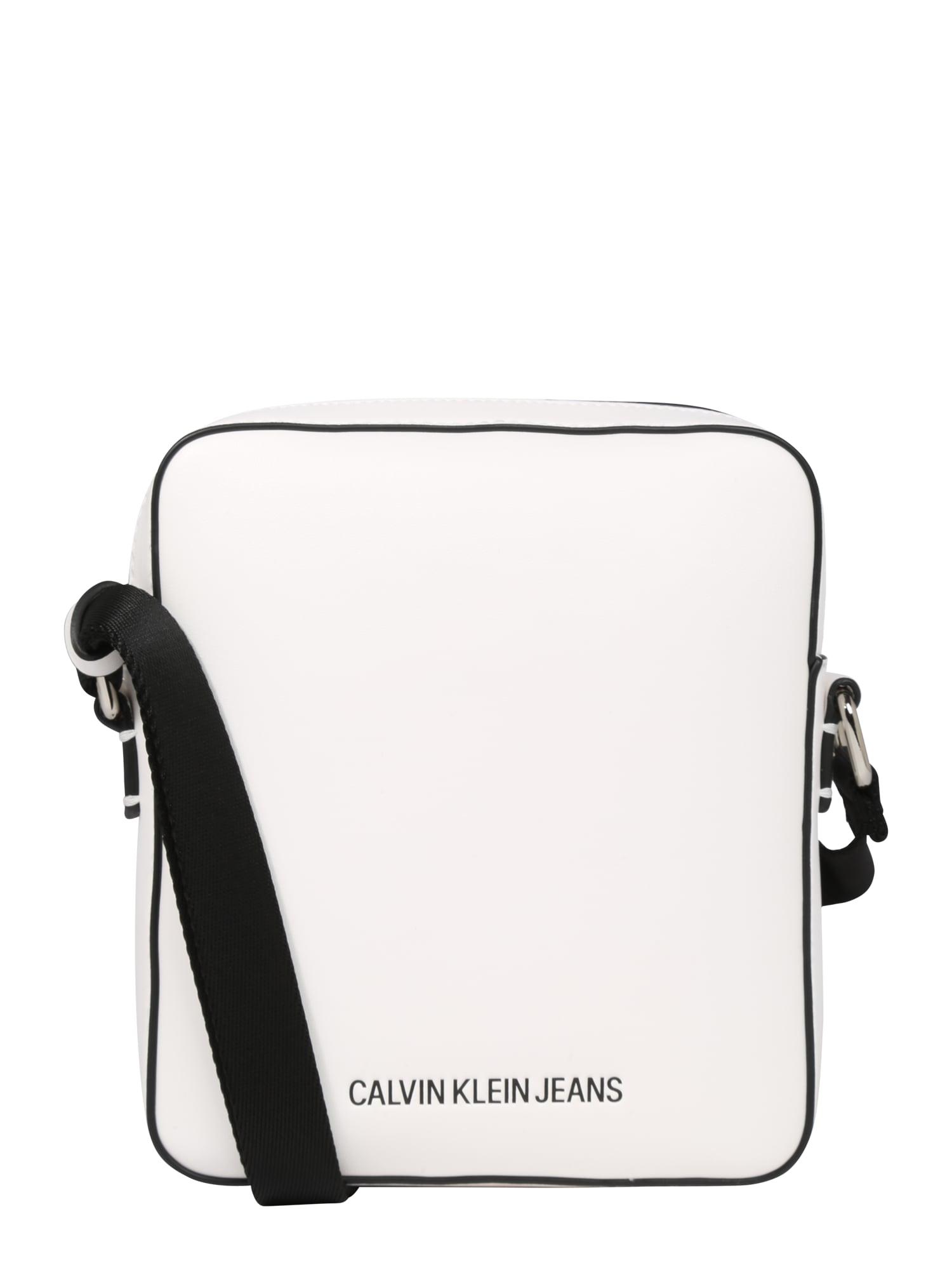 Taška přes rameno MICRO FLAT PACK černá bílá Calvin Klein Jeans