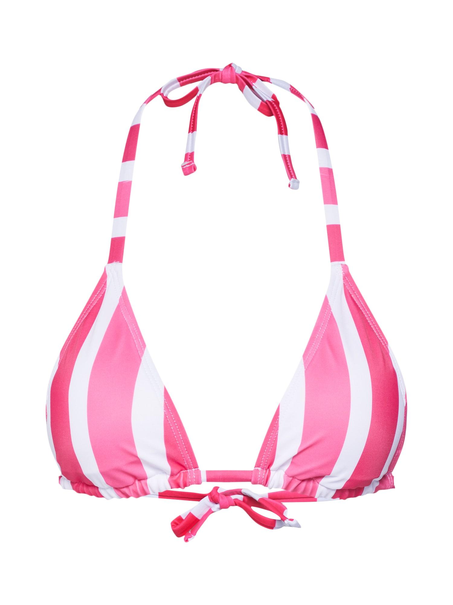 Horní díl plavek Candy Stripes Triangle pink bílá Hunkemöller