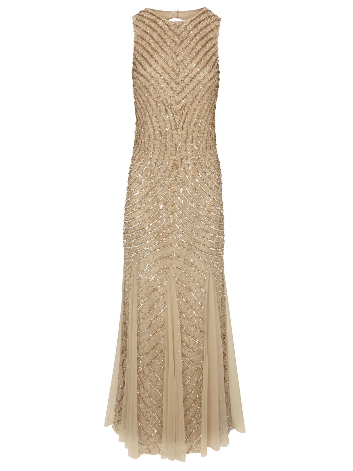 Společenské šaty zlatá Heine