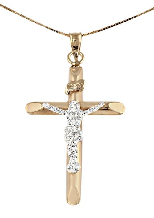 Halsschmuck: Halskette »Kreuz« in Venezianerket...