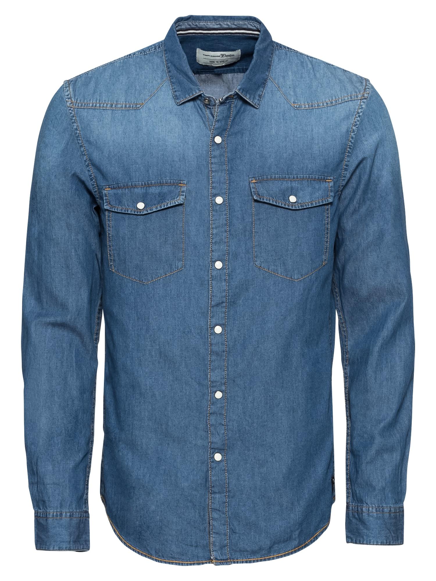 Košile modrá džínovina TOM TAILOR DENIM