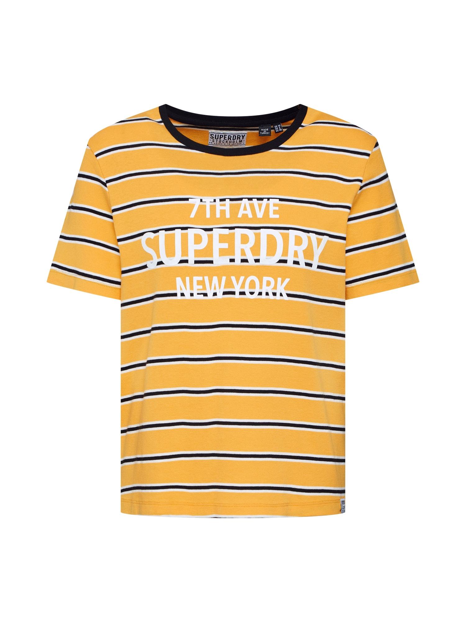 Tričko Rae žlutá černá bílá Superdry