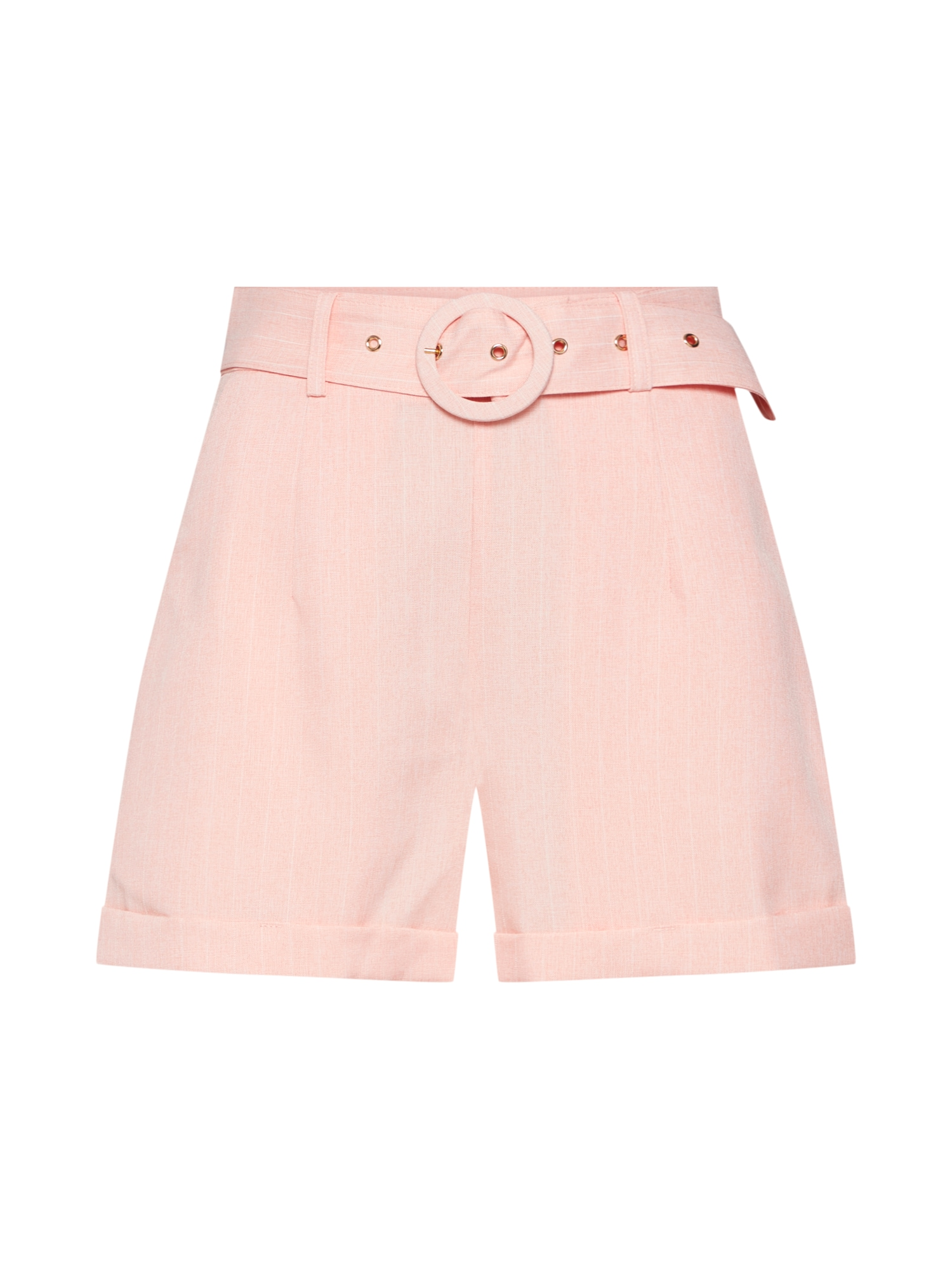 Kalhoty BOY broskvová bílá Fashion Union