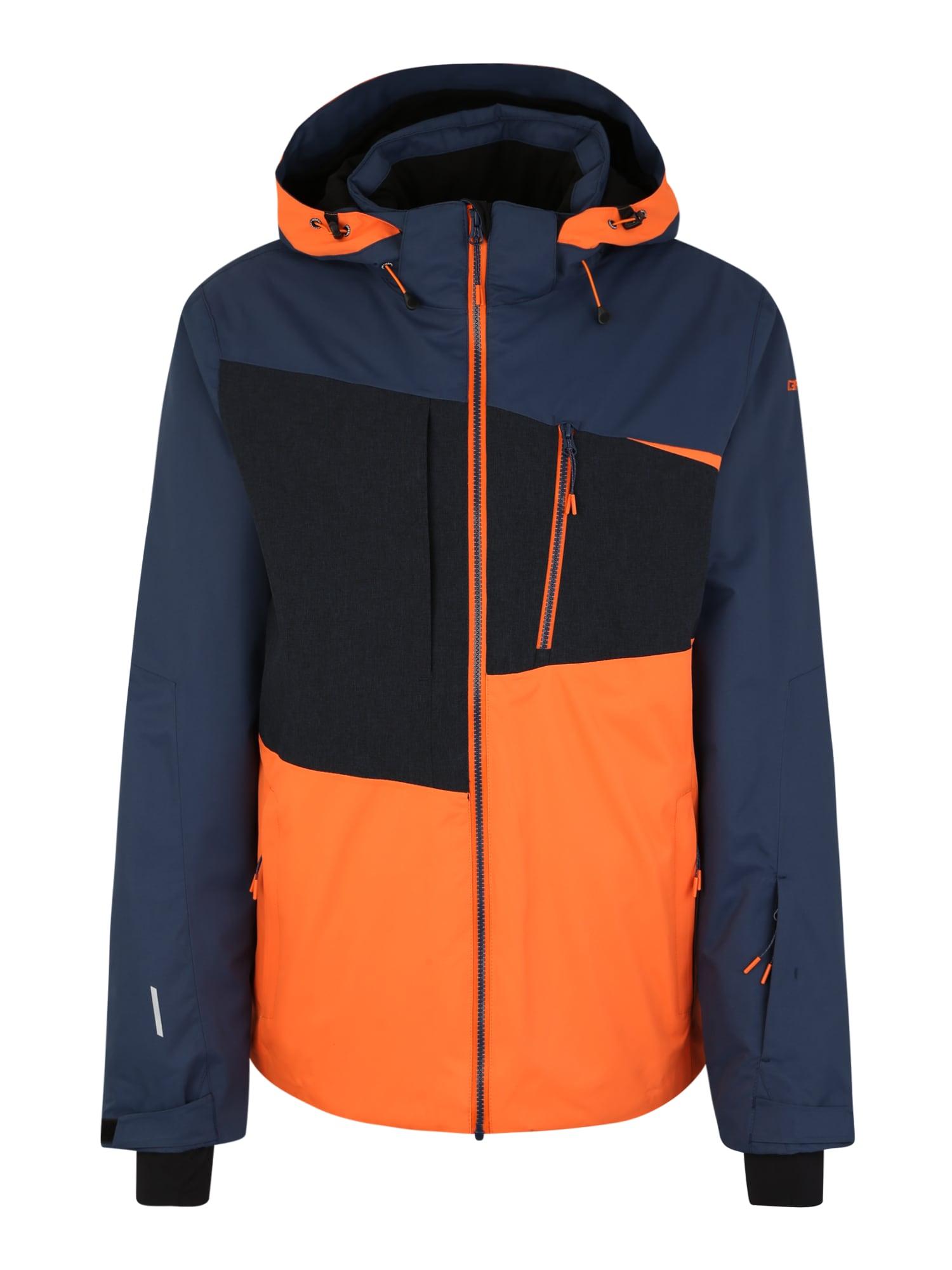 ICEPEAK Outdoorová bunda 'Carver'  námořnická modř / oranžová / černá