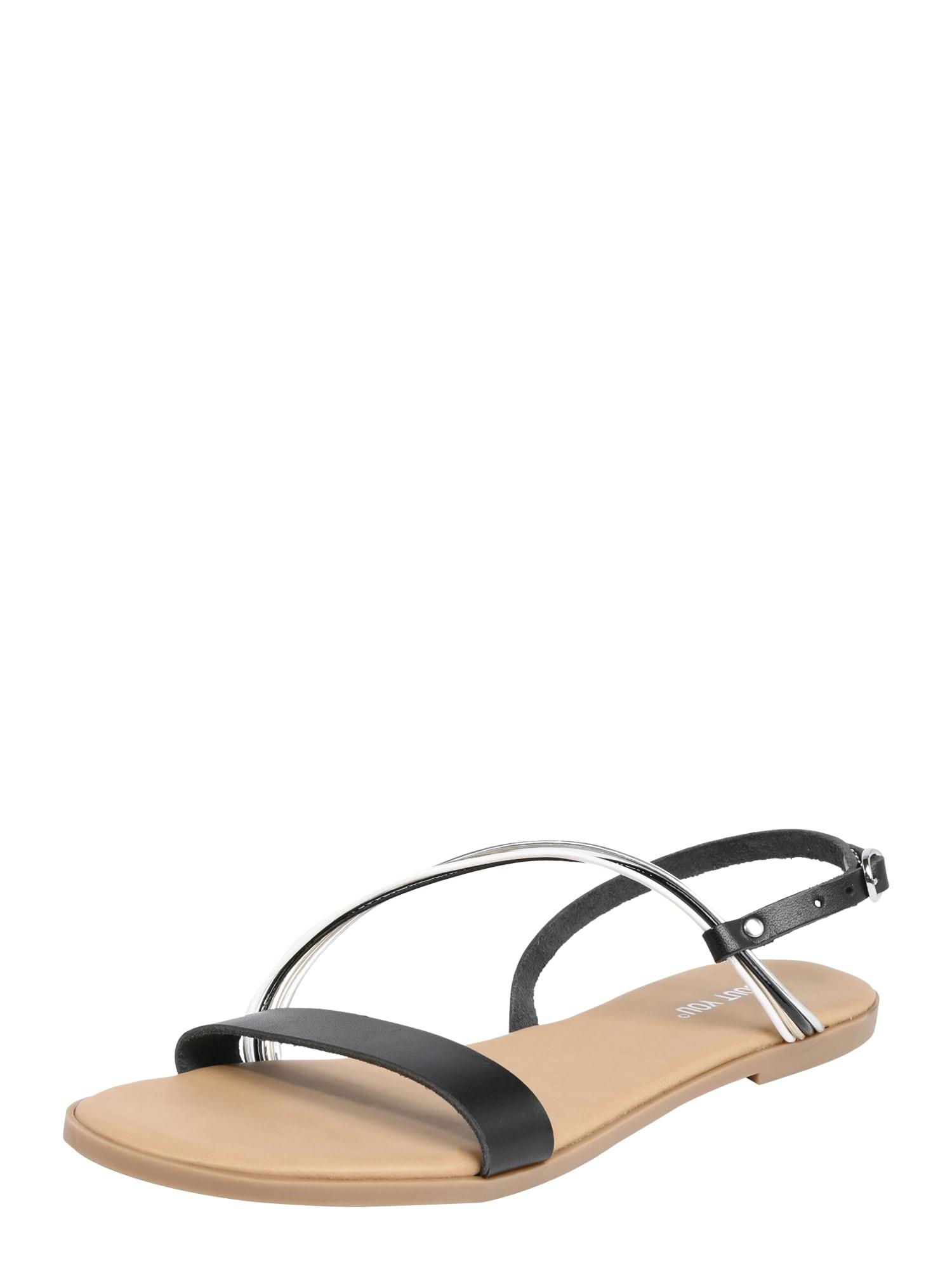 Páskové sandály Gloria černá ABOUT YOU