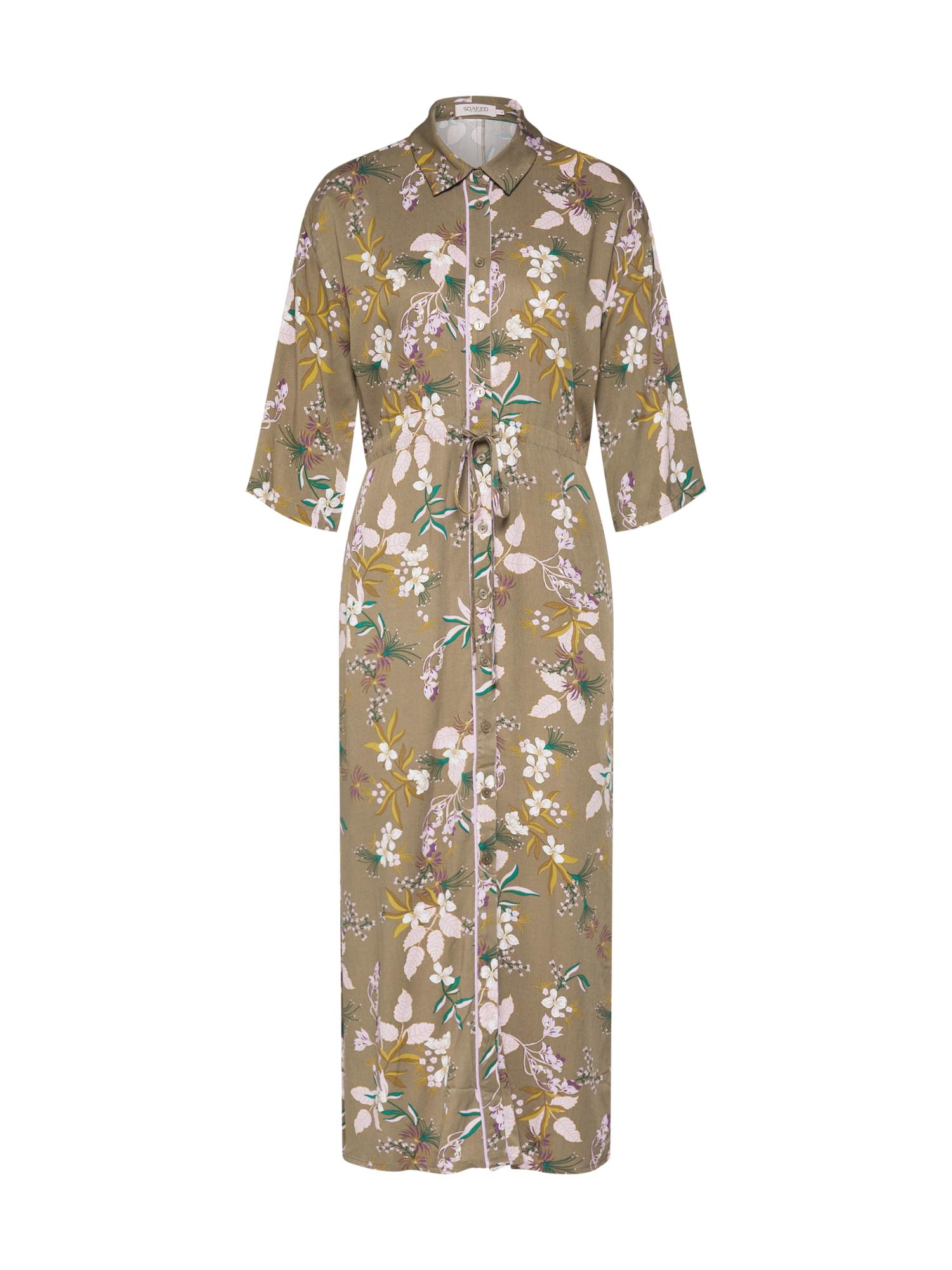 Košilové šaty Brianna olivová mix barev SOAKED IN LUXURY