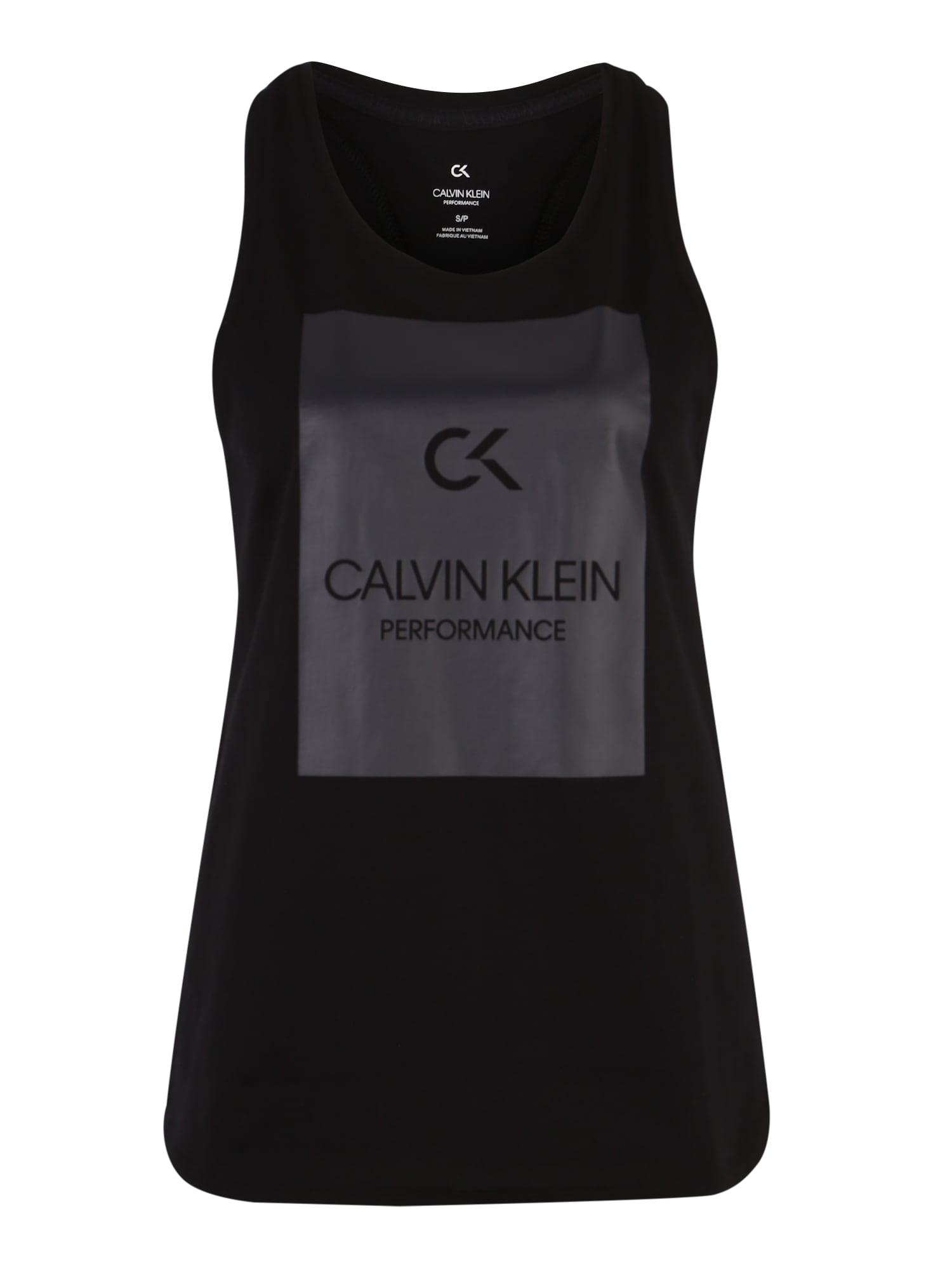 Sportovní top BILLBOARD černá Calvin Klein Performance