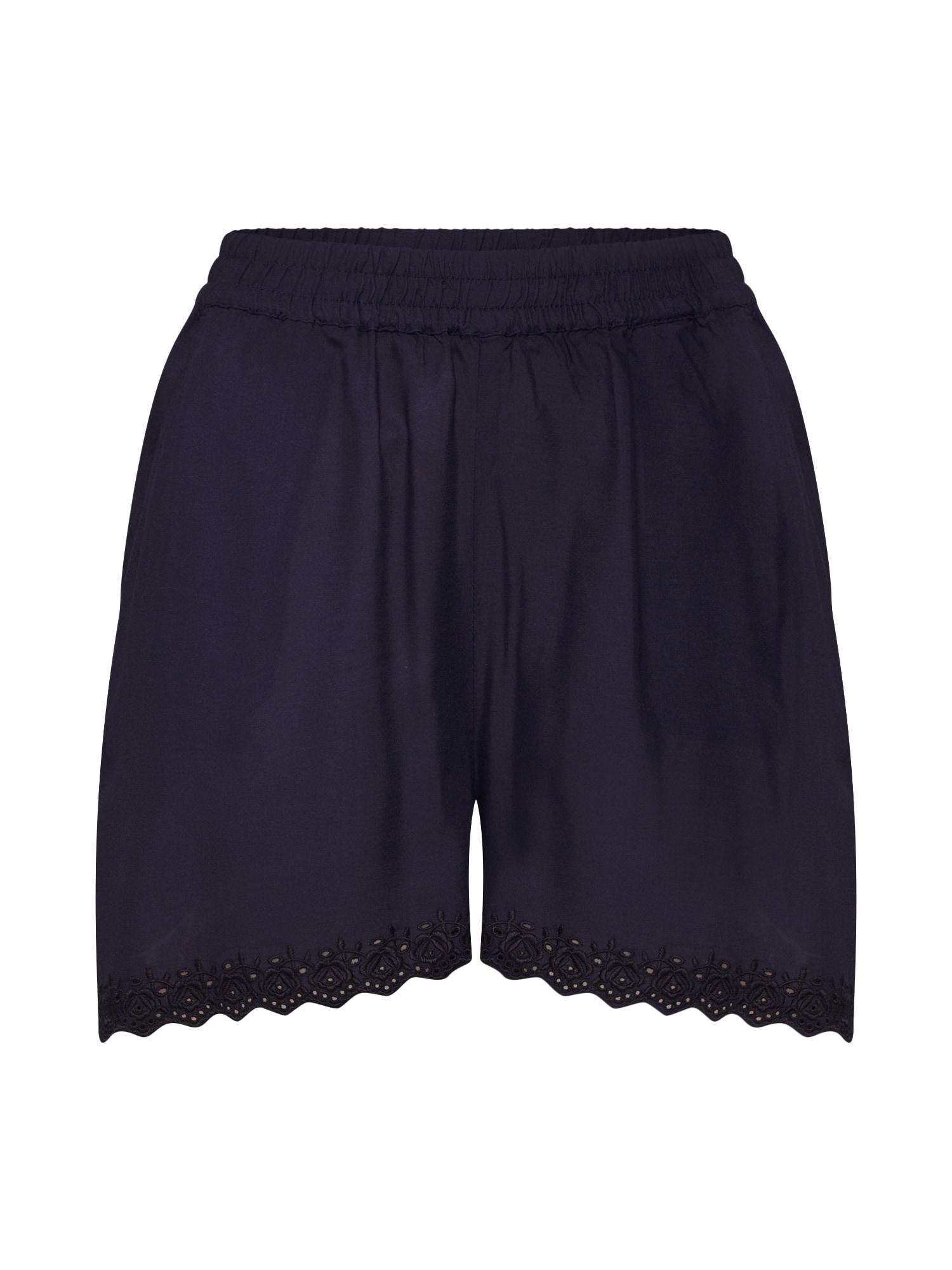 Kalhoty VMSOPHIA NW SHORTS BOX WVN noční modrá VERO MODA
