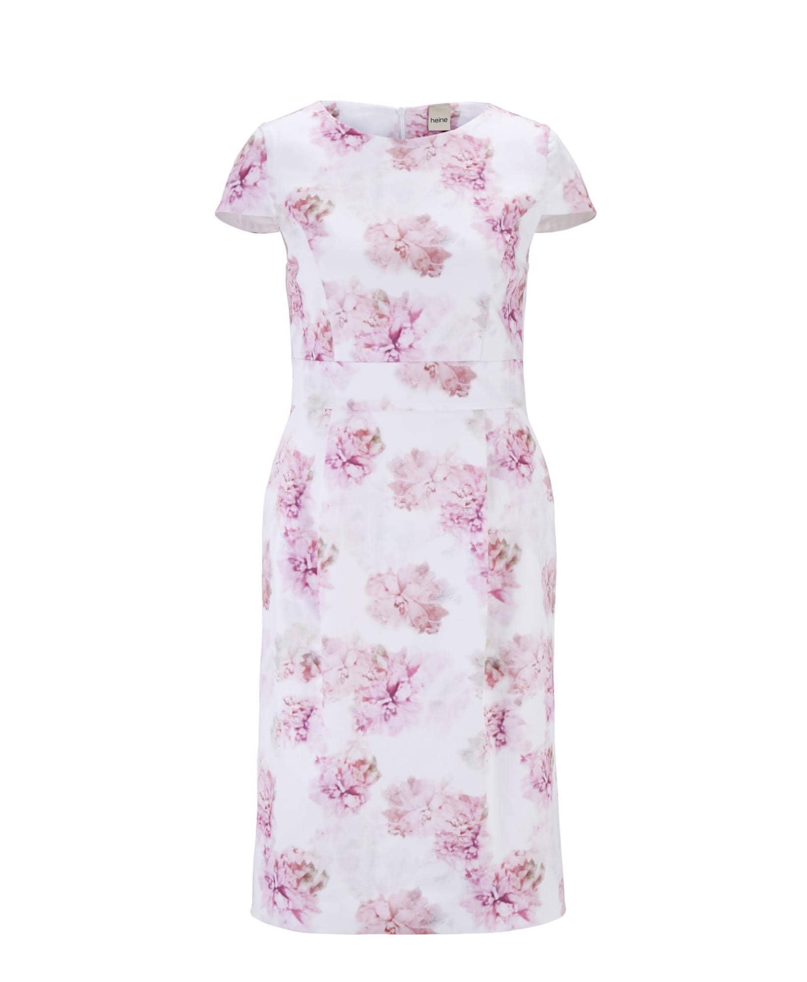 Druckkleid | Bekleidung > Kleider > Druckkleider | Rosa - Weiß | heine