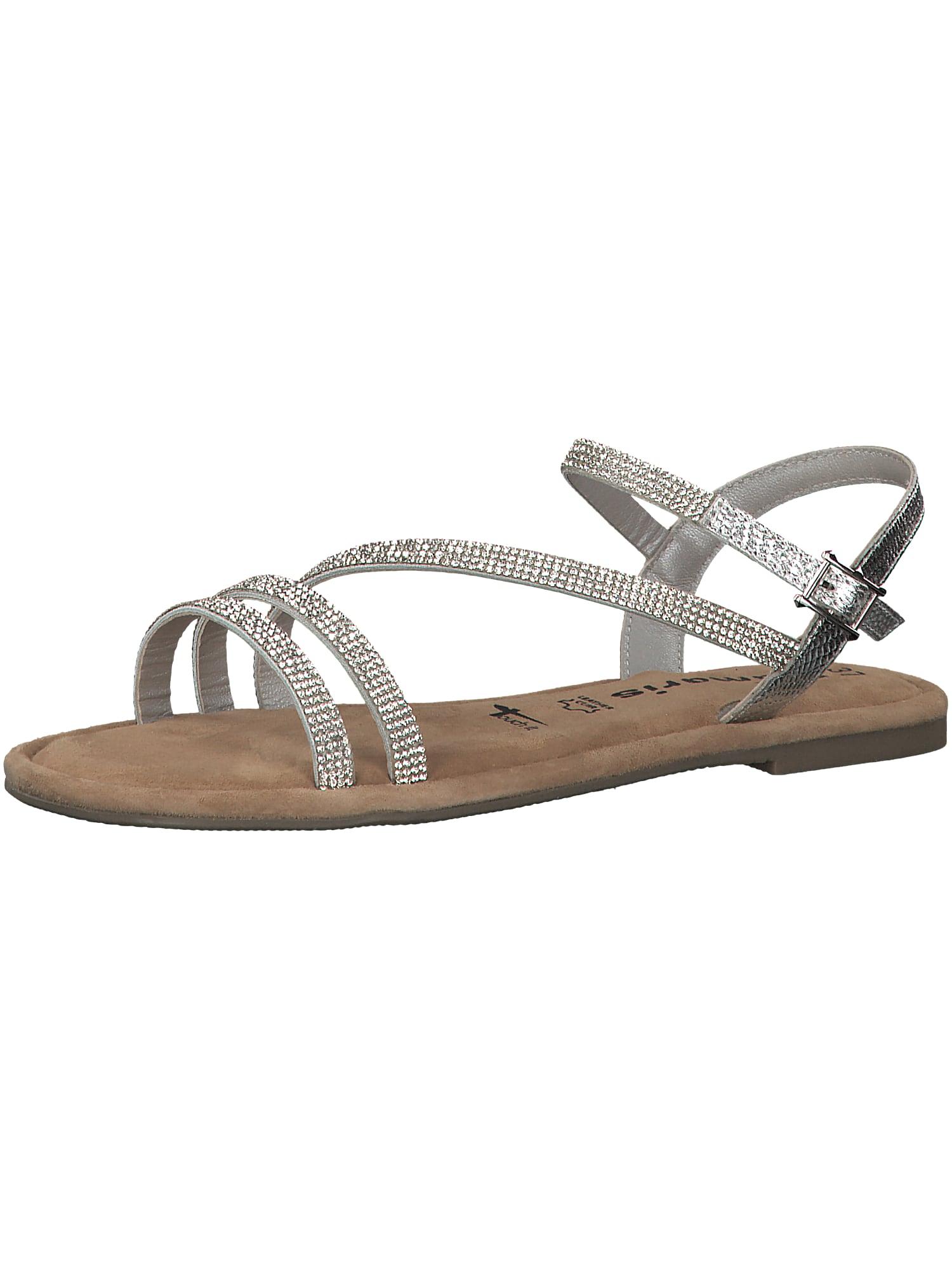 Páskové sandály hnědá stříbrná TAMARIS