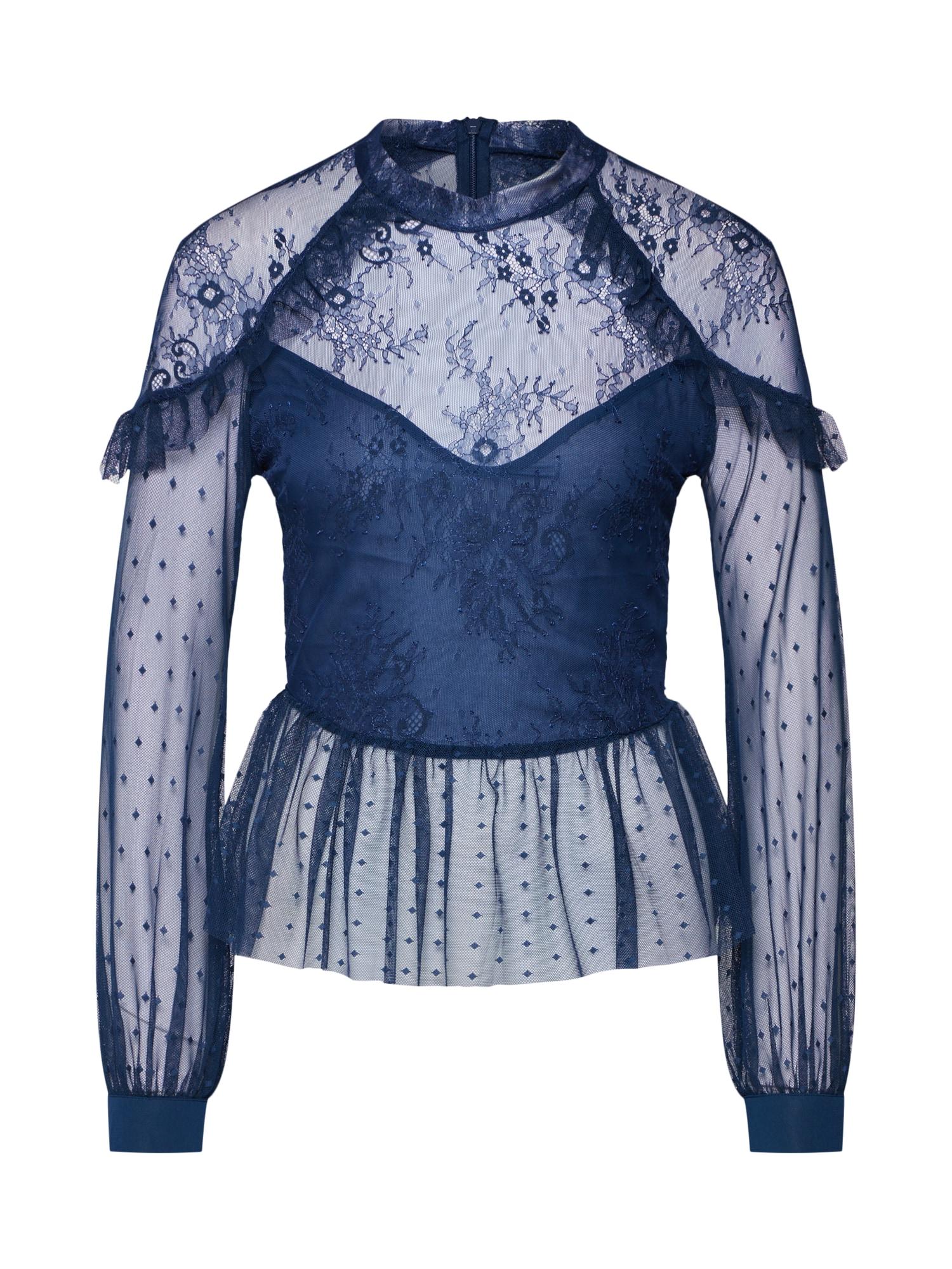 Tunika modrá Bardot