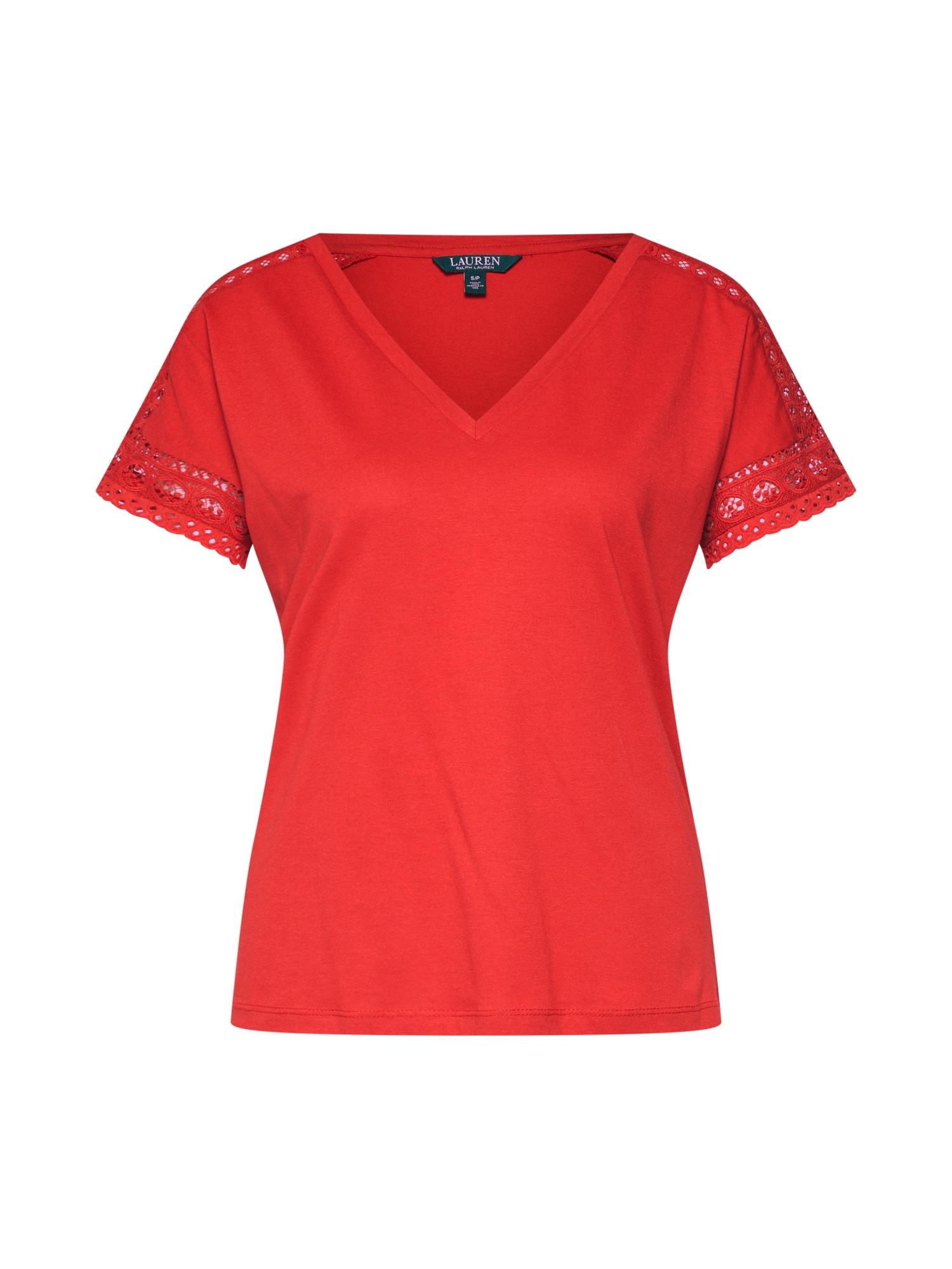 Tričko oranžově červená Lauren Ralph Lauren