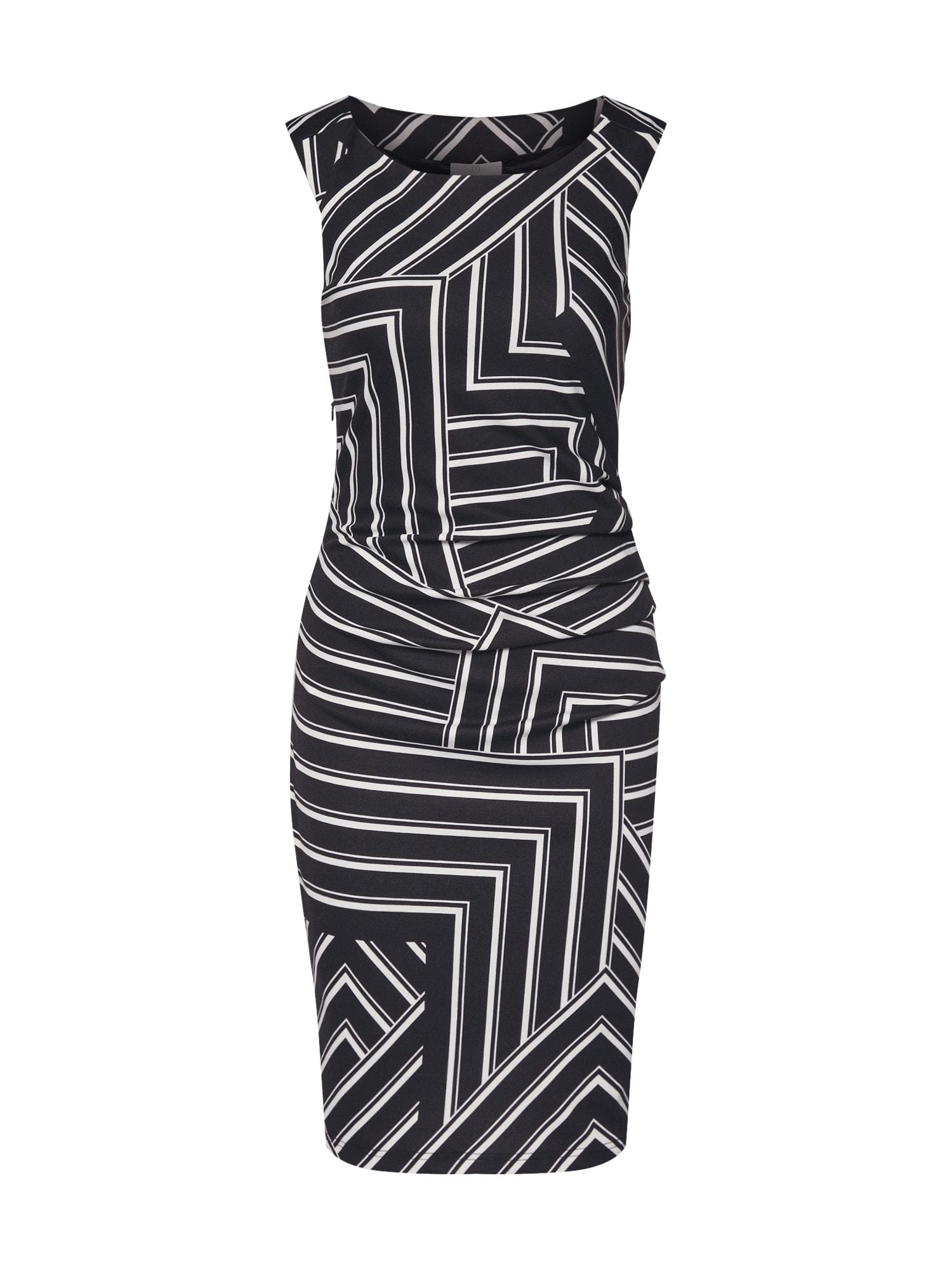 Pouzdrové šaty Aline krémová černá Kaffe