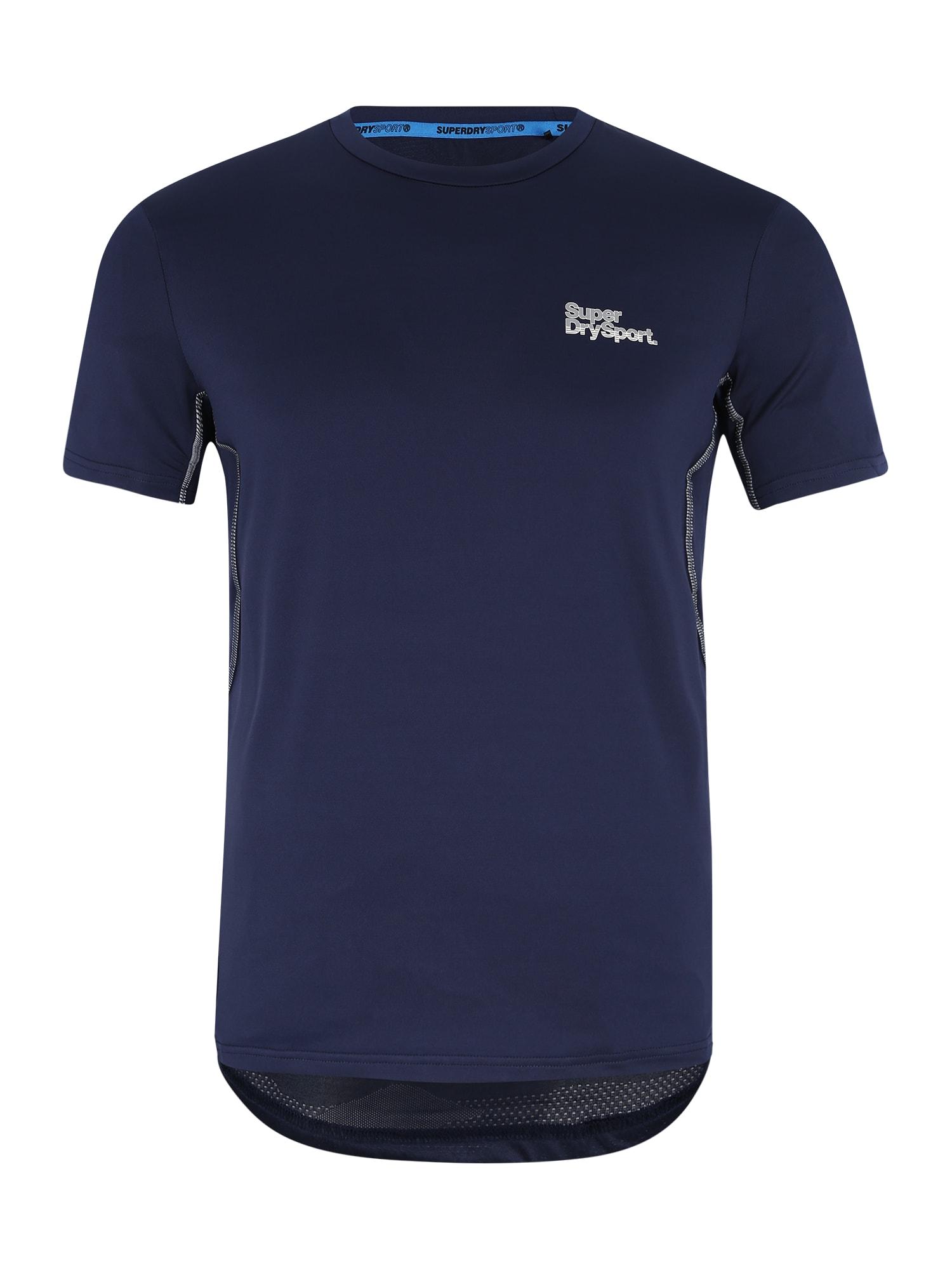 Funkční tričko ACTIVE CAMO tmavě modrá stříbrně šedá Superdry