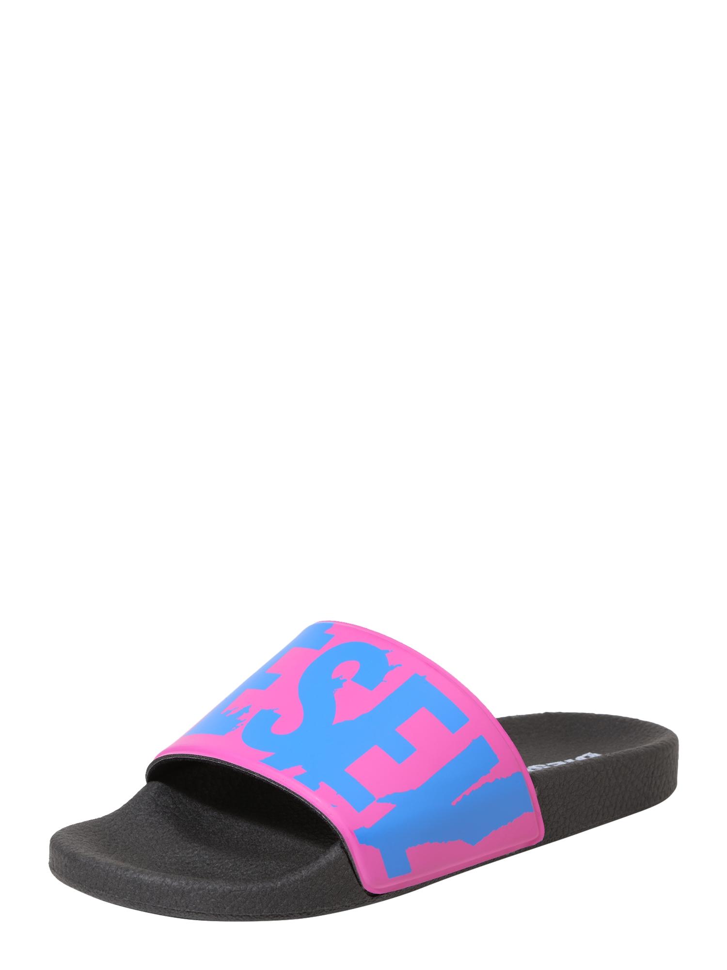DIESEL Dames Muiltjes SA-MARAL pink zwart